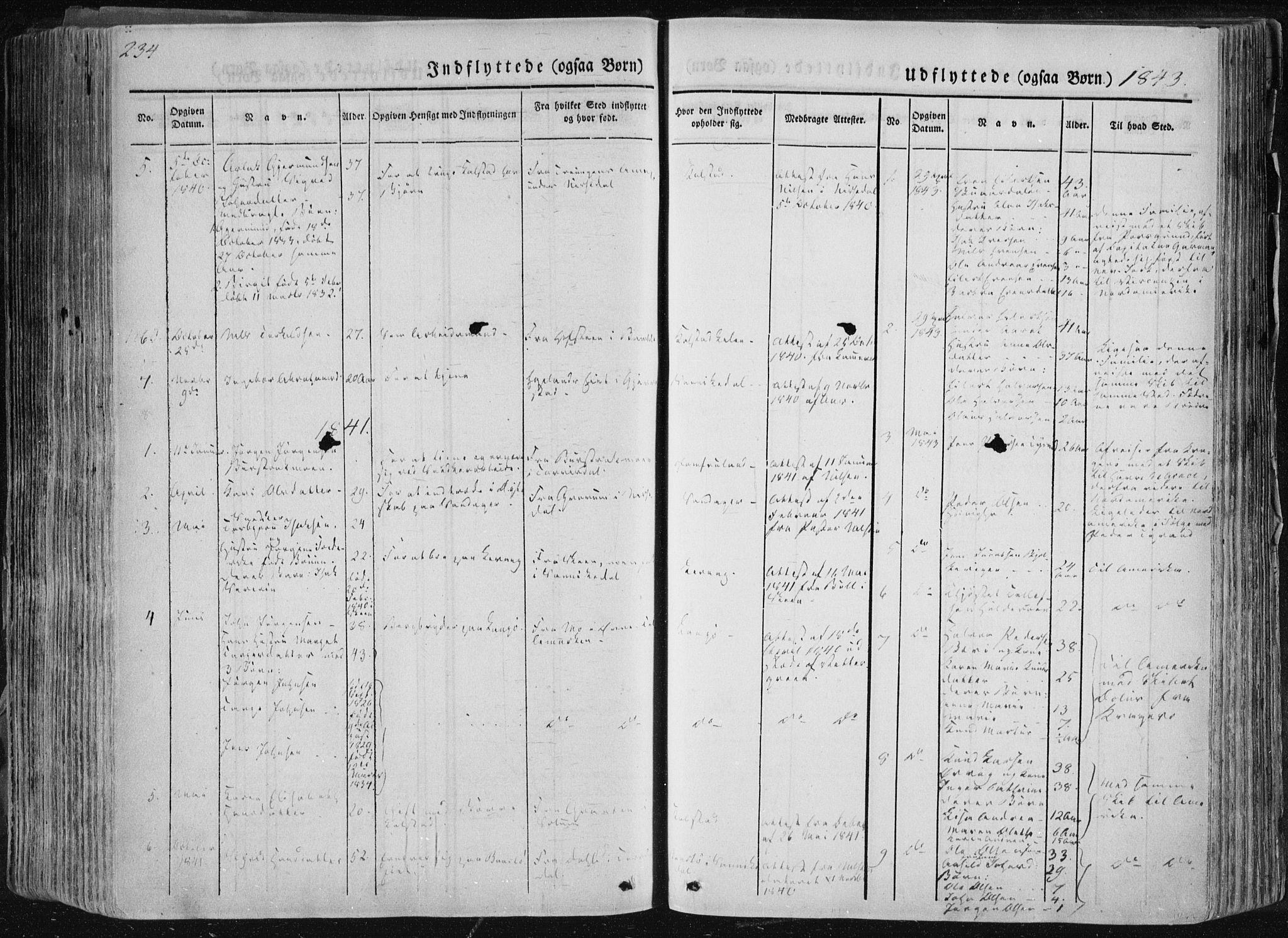 SAKO, Sannidal kirkebøker, F/Fa/L0007: Ministerialbok nr. 7, 1831-1854, s. 234