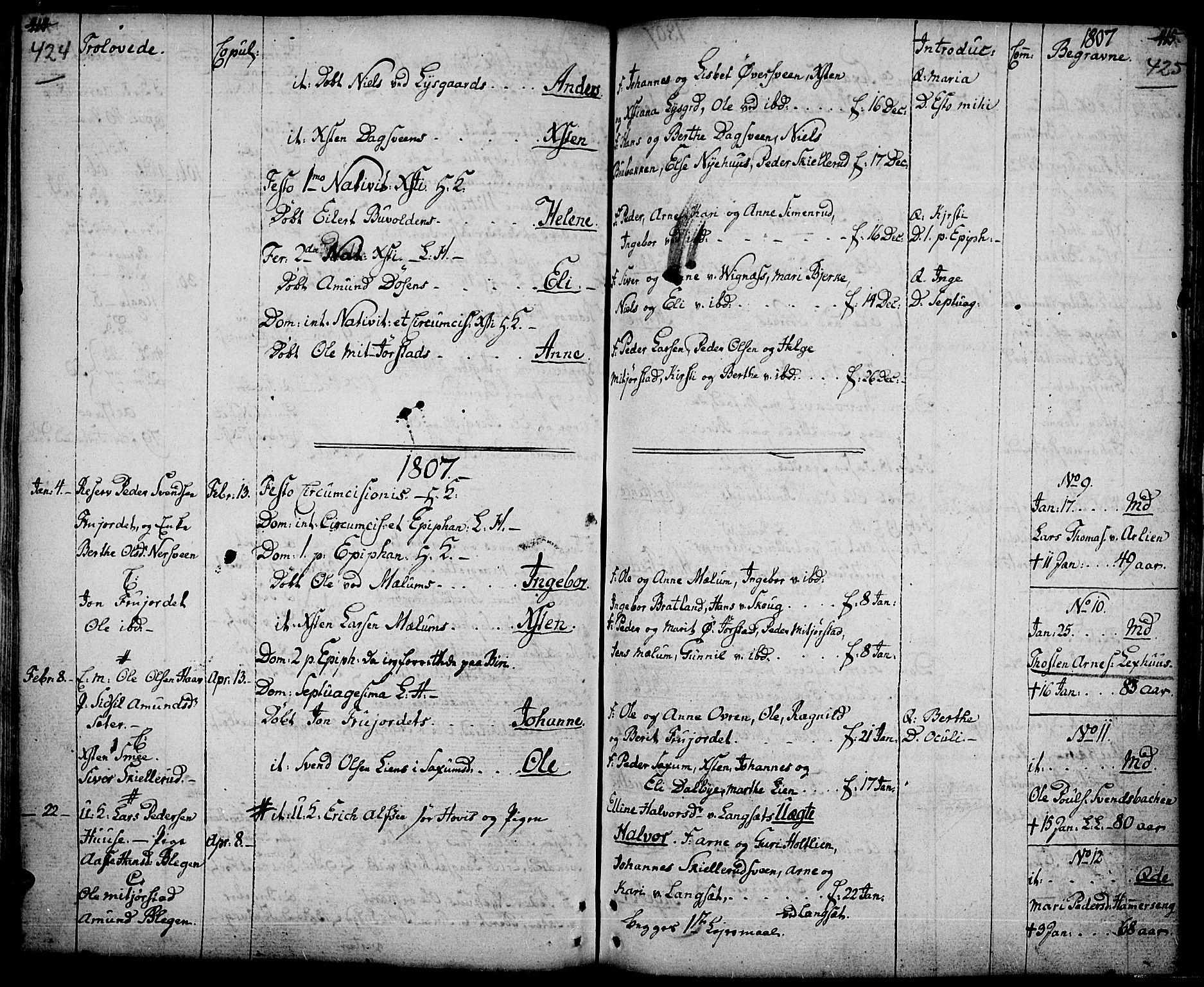 SAH, Fåberg prestekontor, Ministerialbok nr. 2, 1775-1818, s. 424-425