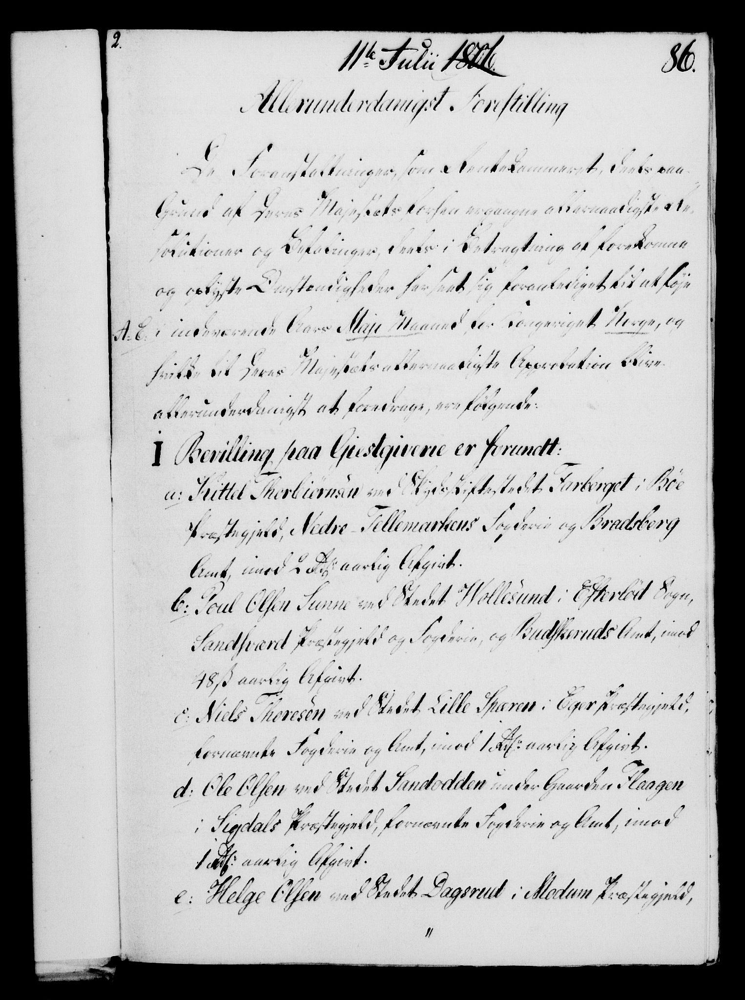 RA, Rentekammeret, Kammerkanselliet, G/Gf/Gfa/L0088: Norsk relasjons- og resolusjonsprotokoll (merket RK 52.88), 1806, s. 541