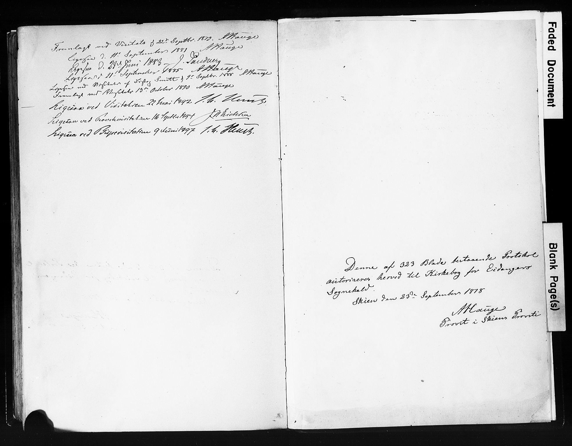 SAKO, Eidanger kirkebøker, F/Fa/L0012: Ministerialbok nr. 12, 1879-1900