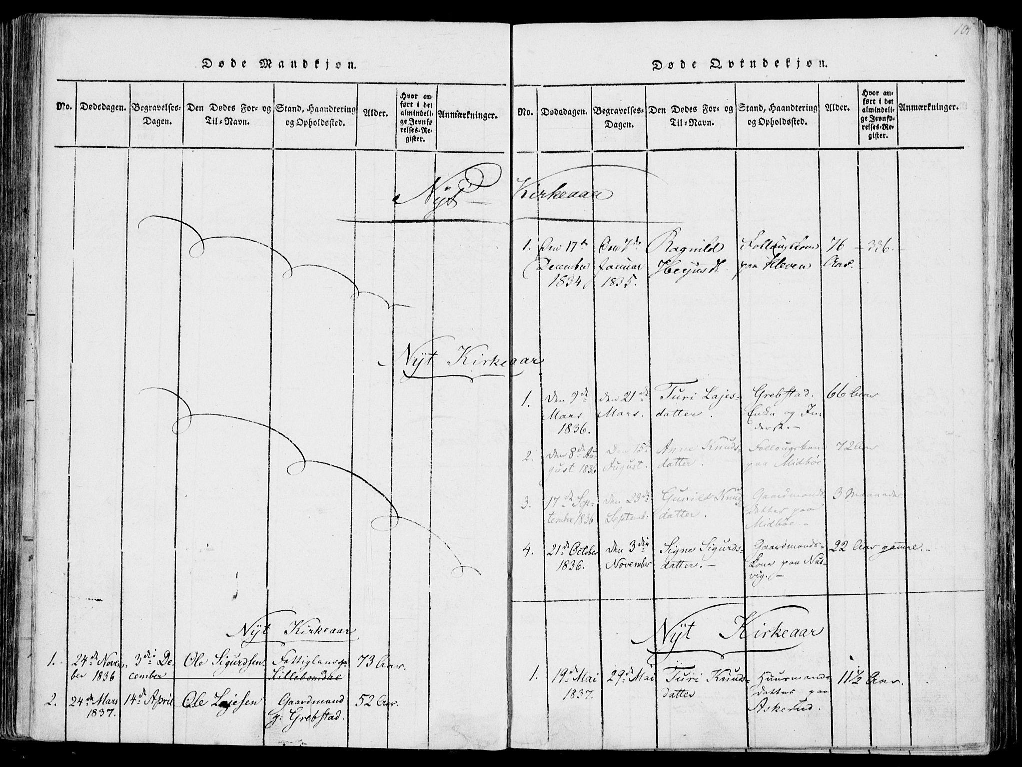 SAKO, Fyresdal kirkebøker, F/Fa/L0004: Ministerialbok nr. I 4, 1815-1854, s. 101