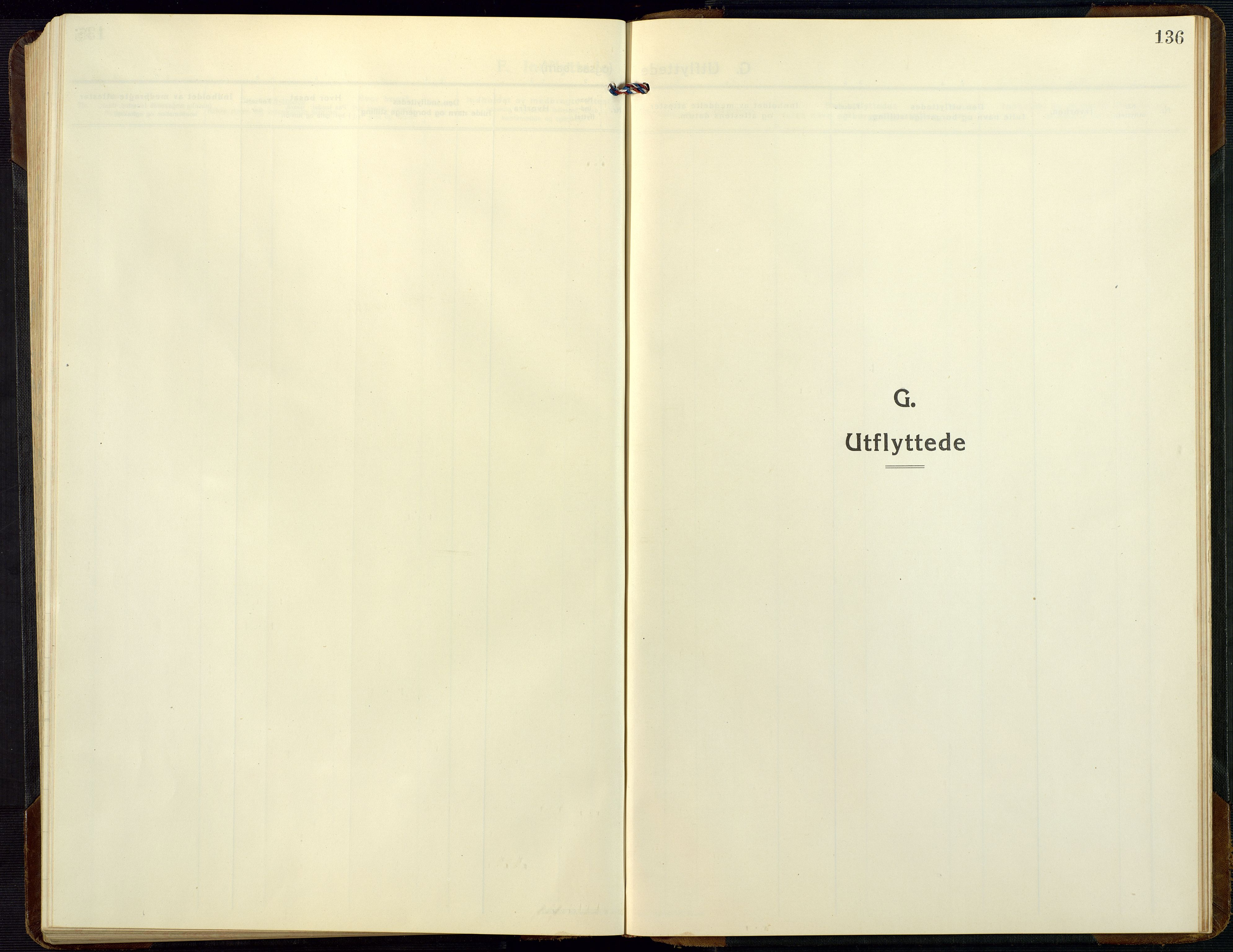 SAK, Dypvåg sokneprestkontor, F/Fb/Fbb/L0006: Klokkerbok nr. B 6, 1925-1954, s. 136