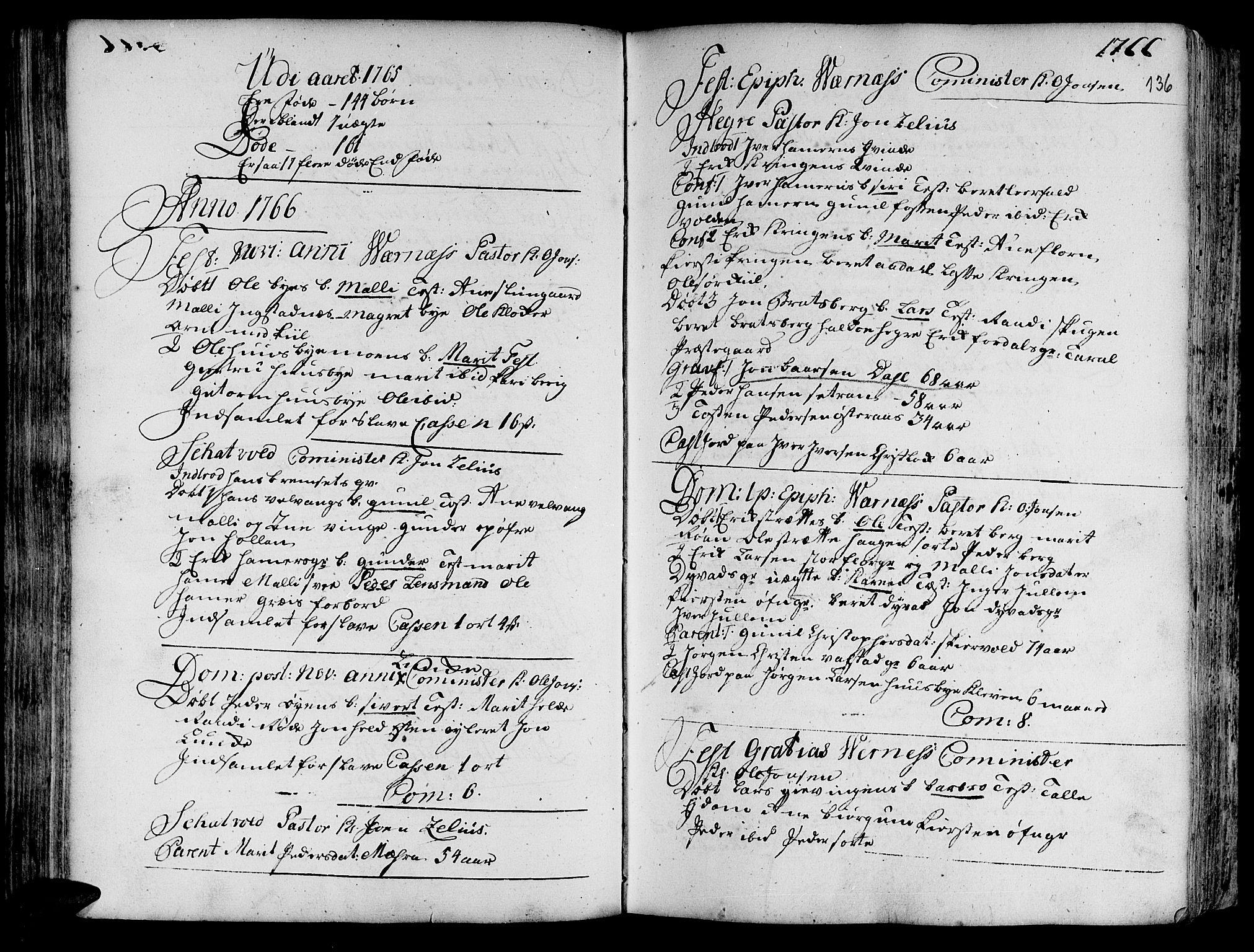SAT, Ministerialprotokoller, klokkerbøker og fødselsregistre - Nord-Trøndelag, 709/L0057: Ministerialbok nr. 709A05, 1755-1780, s. 136