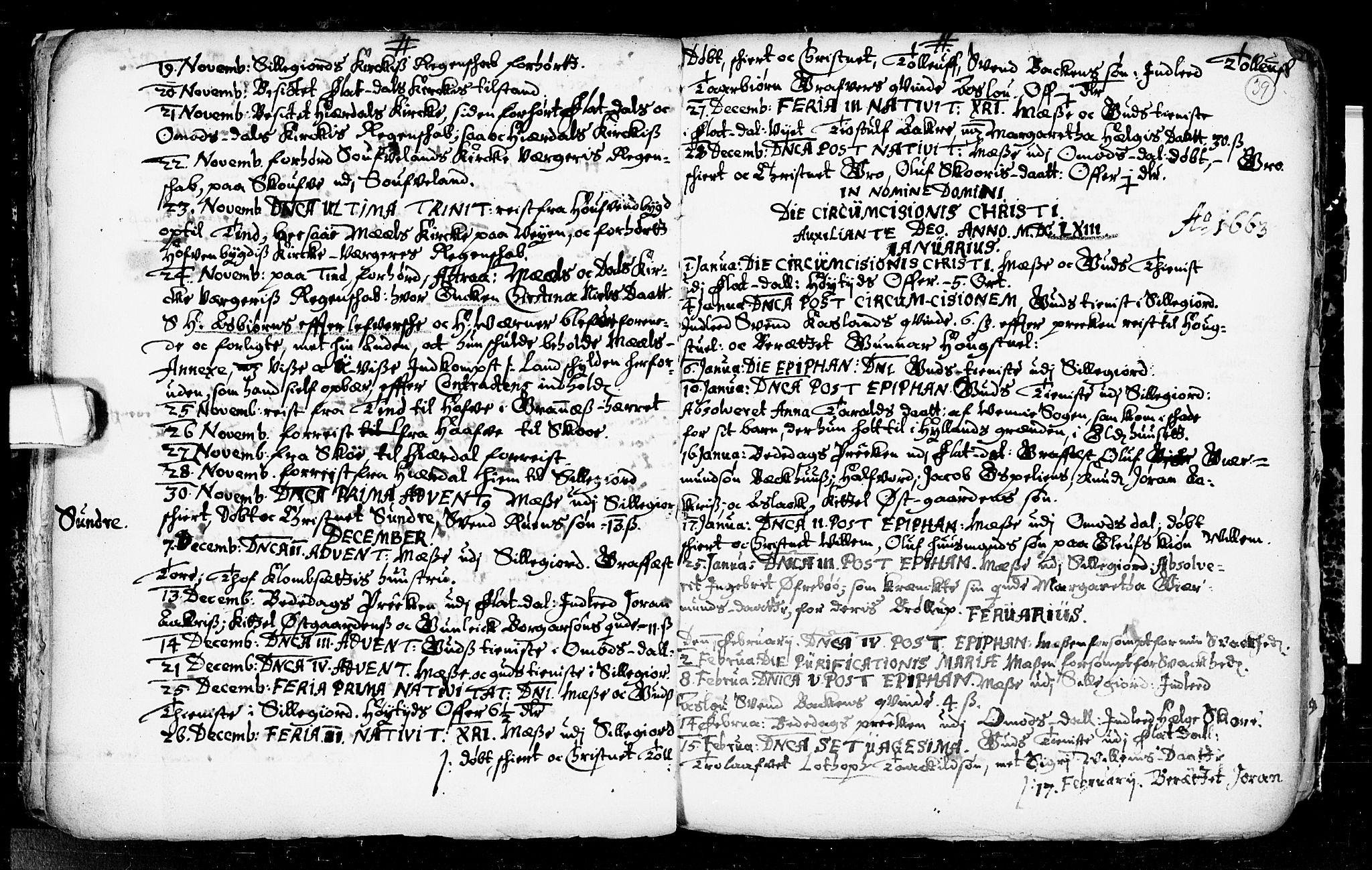 SAKO, Seljord kirkebøker, F/Fa/L0001: Ministerialbok nr. I 1, 1654-1686, s. 39