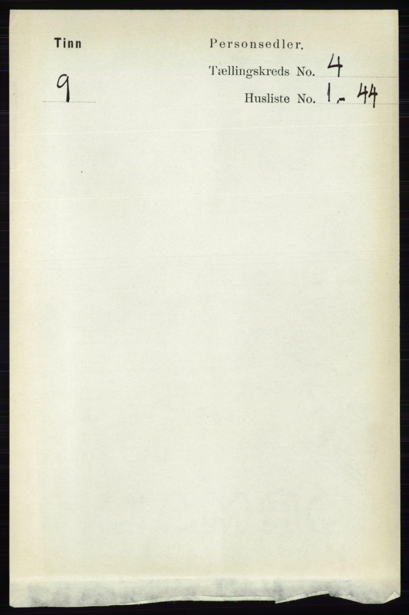 RA, Folketelling 1891 for 0826 Tinn herred, 1891, s. 723