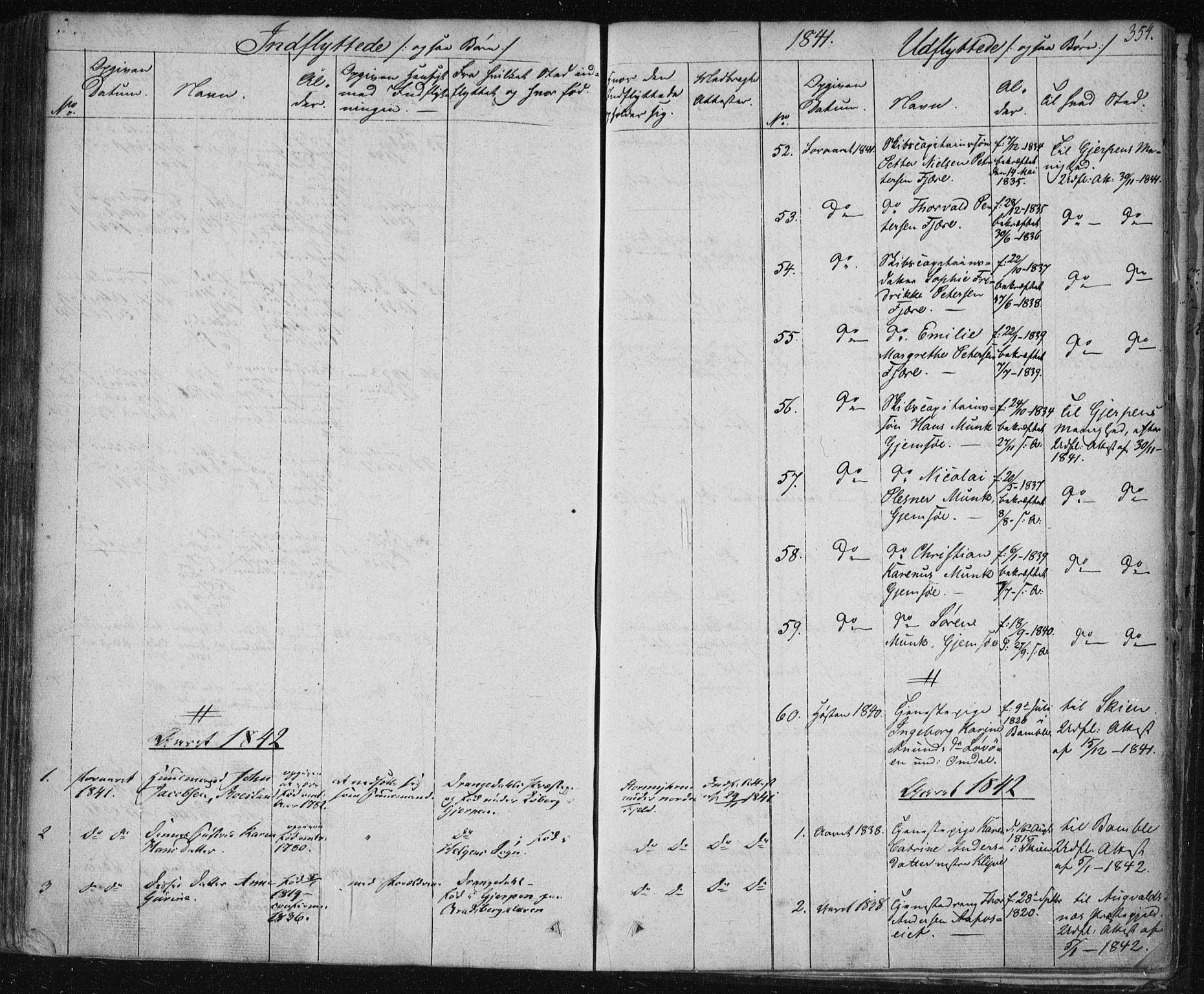 SAKO, Solum kirkebøker, F/Fa/L0005: Ministerialbok nr. I 5, 1833-1843, s. 354
