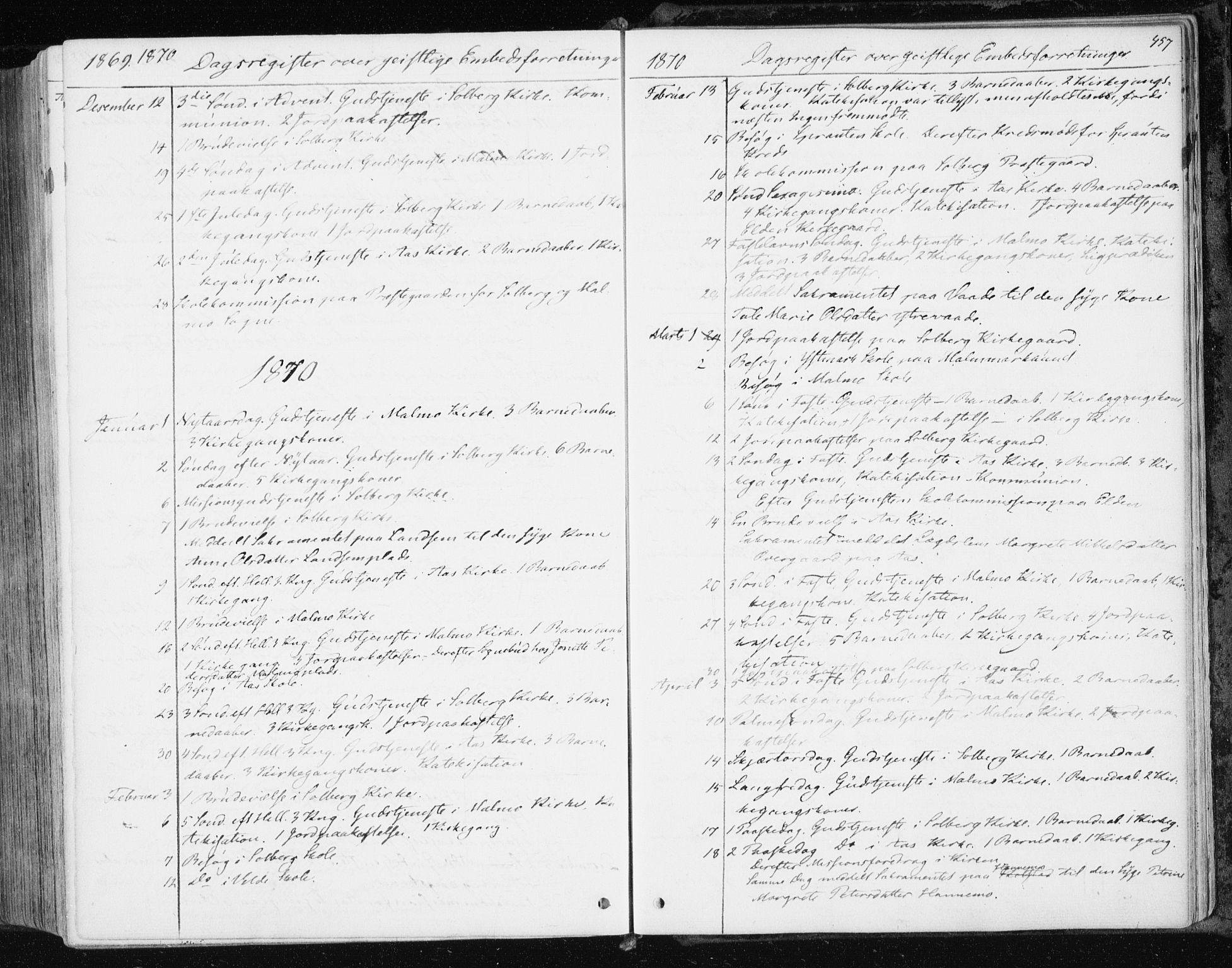 SAT, Ministerialprotokoller, klokkerbøker og fødselsregistre - Nord-Trøndelag, 741/L0394: Ministerialbok nr. 741A08, 1864-1877, s. 457