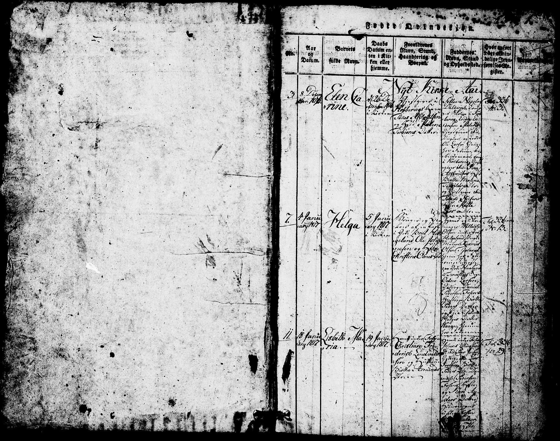 SAST, Avaldsnes sokneprestkontor, H/Ha/Hab/L0001: Klokkerbok nr. B 1, 1816-1825, s. 1