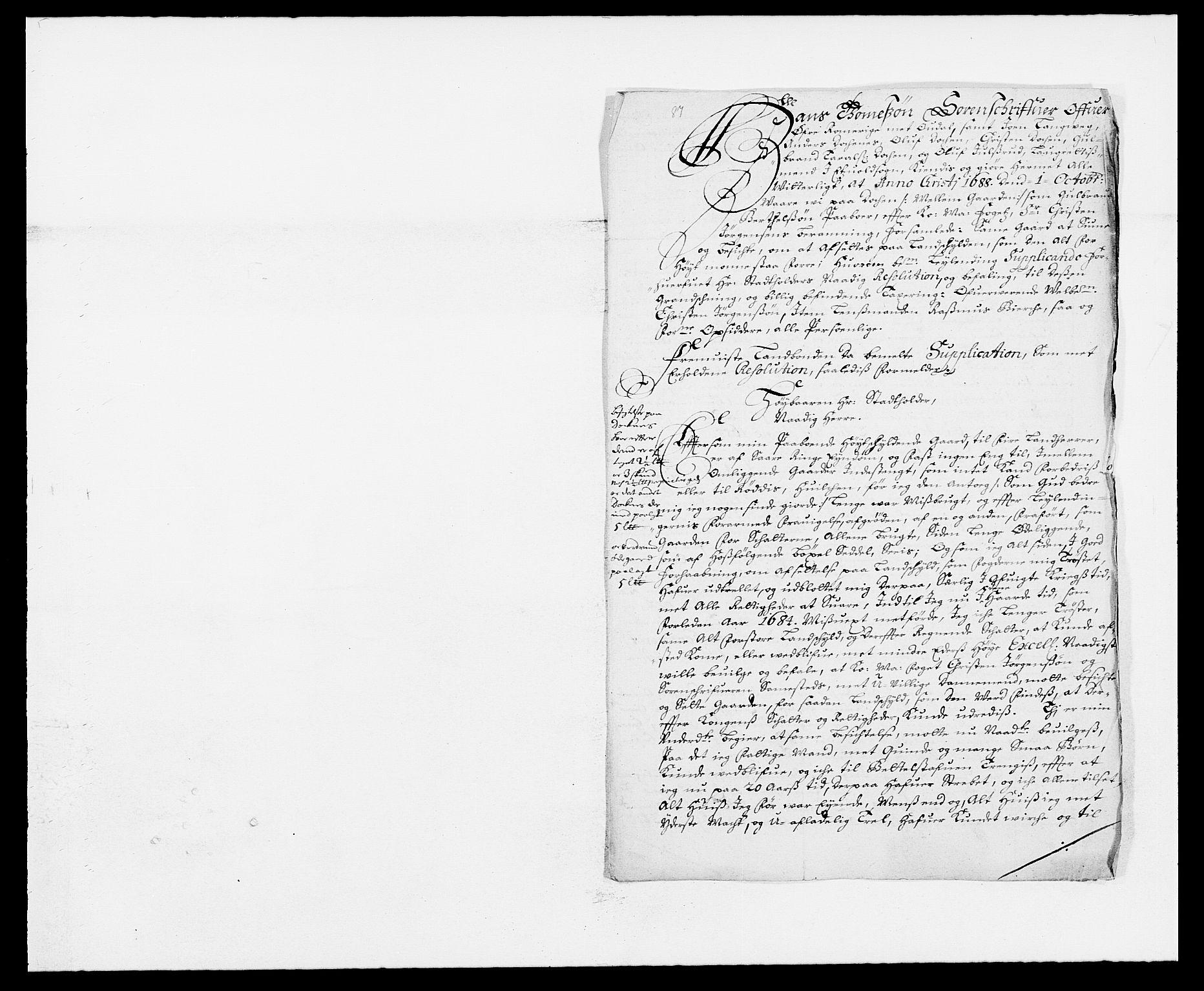 RA, Rentekammeret inntil 1814, Reviderte regnskaper, Fogderegnskap, R12/L0700: Fogderegnskap Øvre Romerike, 1687-1688, s. 259