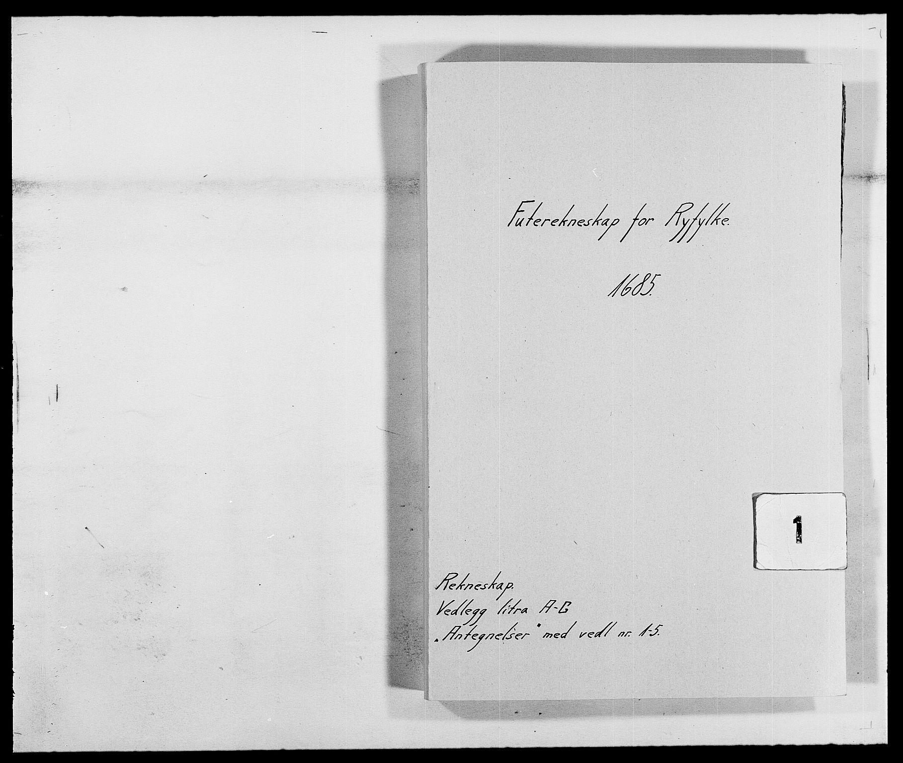 RA, Rentekammeret inntil 1814, Reviderte regnskaper, Fogderegnskap, R47/L2855: Fogderegnskap Ryfylke, 1685-1688, s. 1