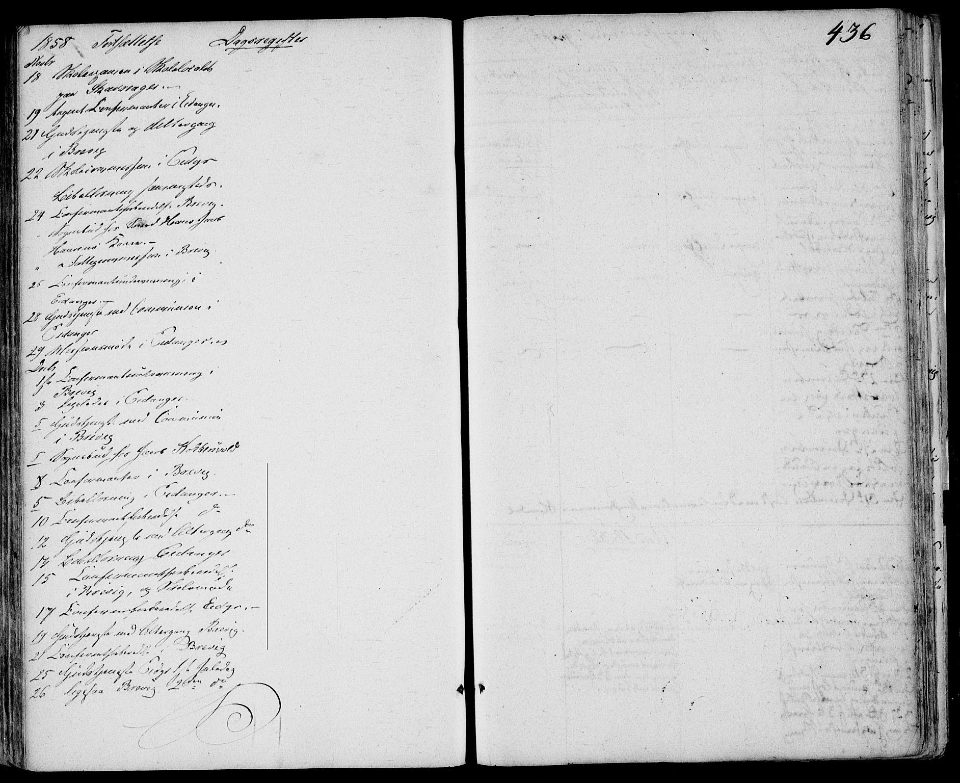 SAKO, Eidanger kirkebøker, F/Fa/L0008: Ministerialbok nr. 8, 1831-1858, s. 436