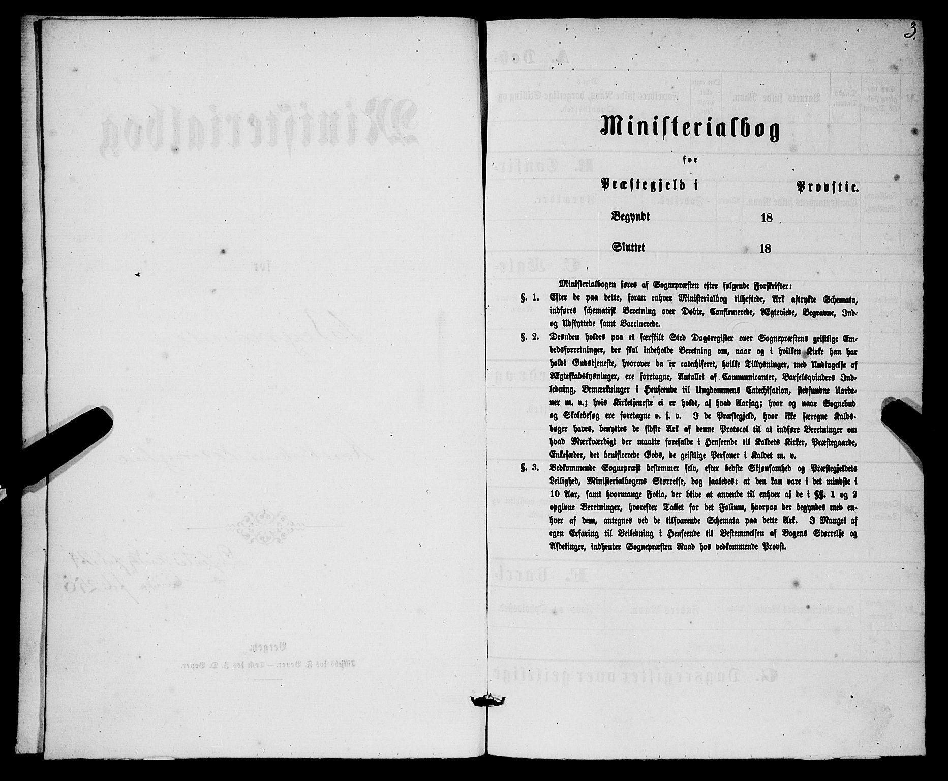 SAB, Korskirken Sokneprestembete, H/Haa/L0045: Ministerialbok nr. E 3, 1863-1875, s. 3