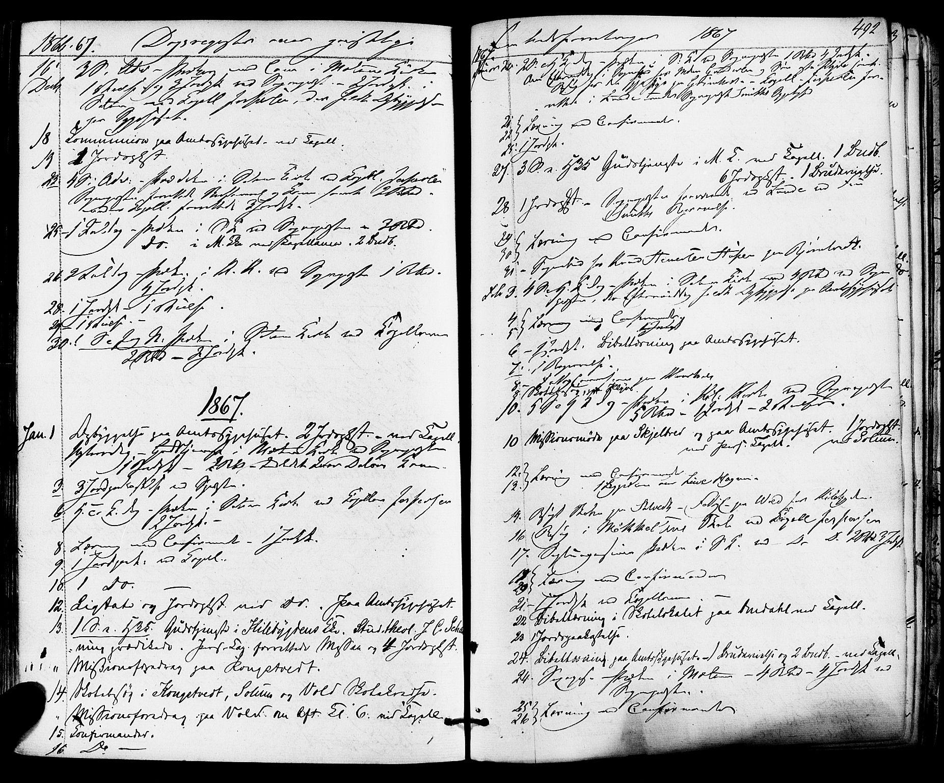 SAKO, Solum kirkebøker, F/Fa/L0008: Ministerialbok nr. I 8, 1865-1876, s. 492