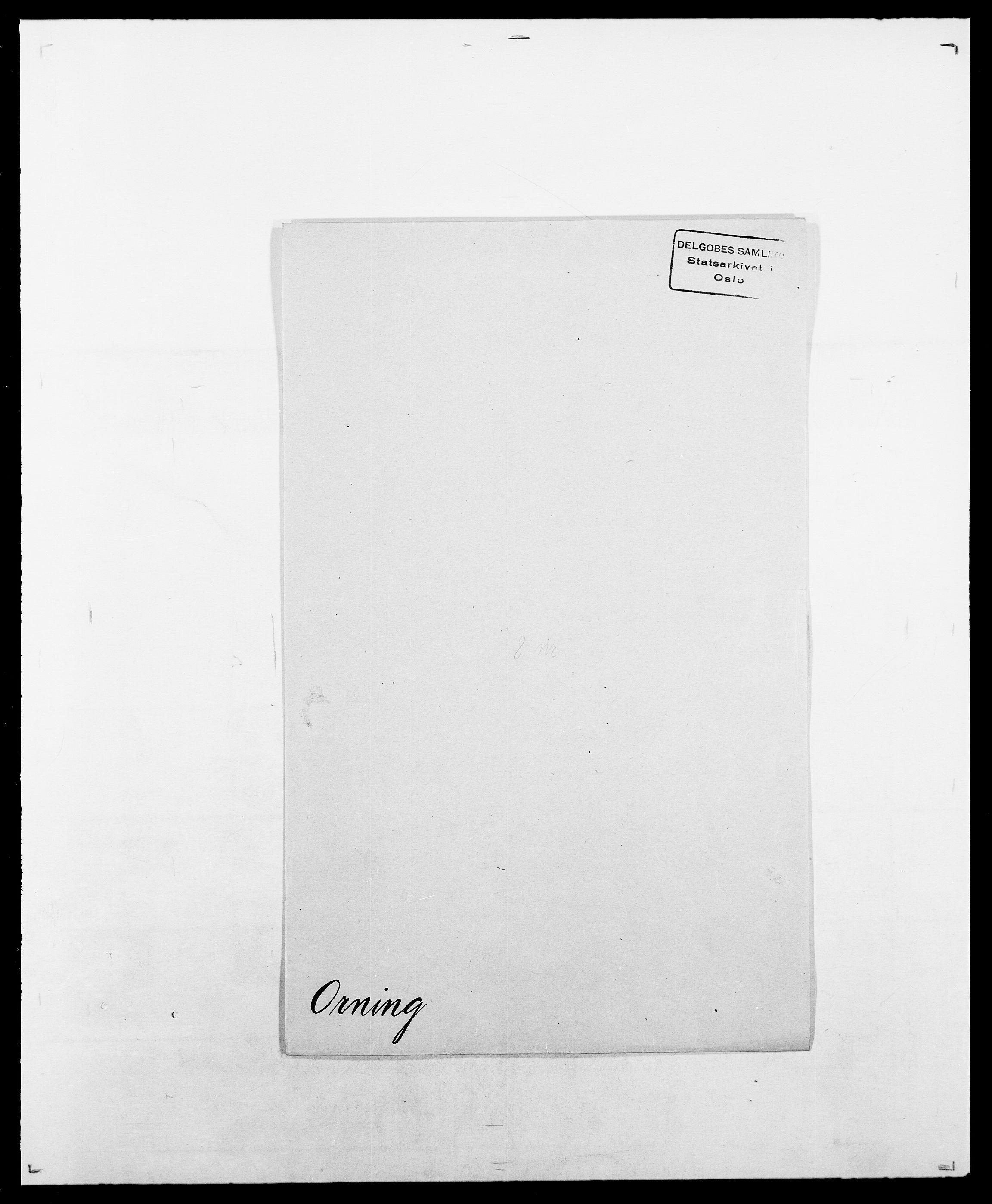 SAO, Delgobe, Charles Antoine - samling, D/Da/L0029: Obel - Oxholm, s. 416