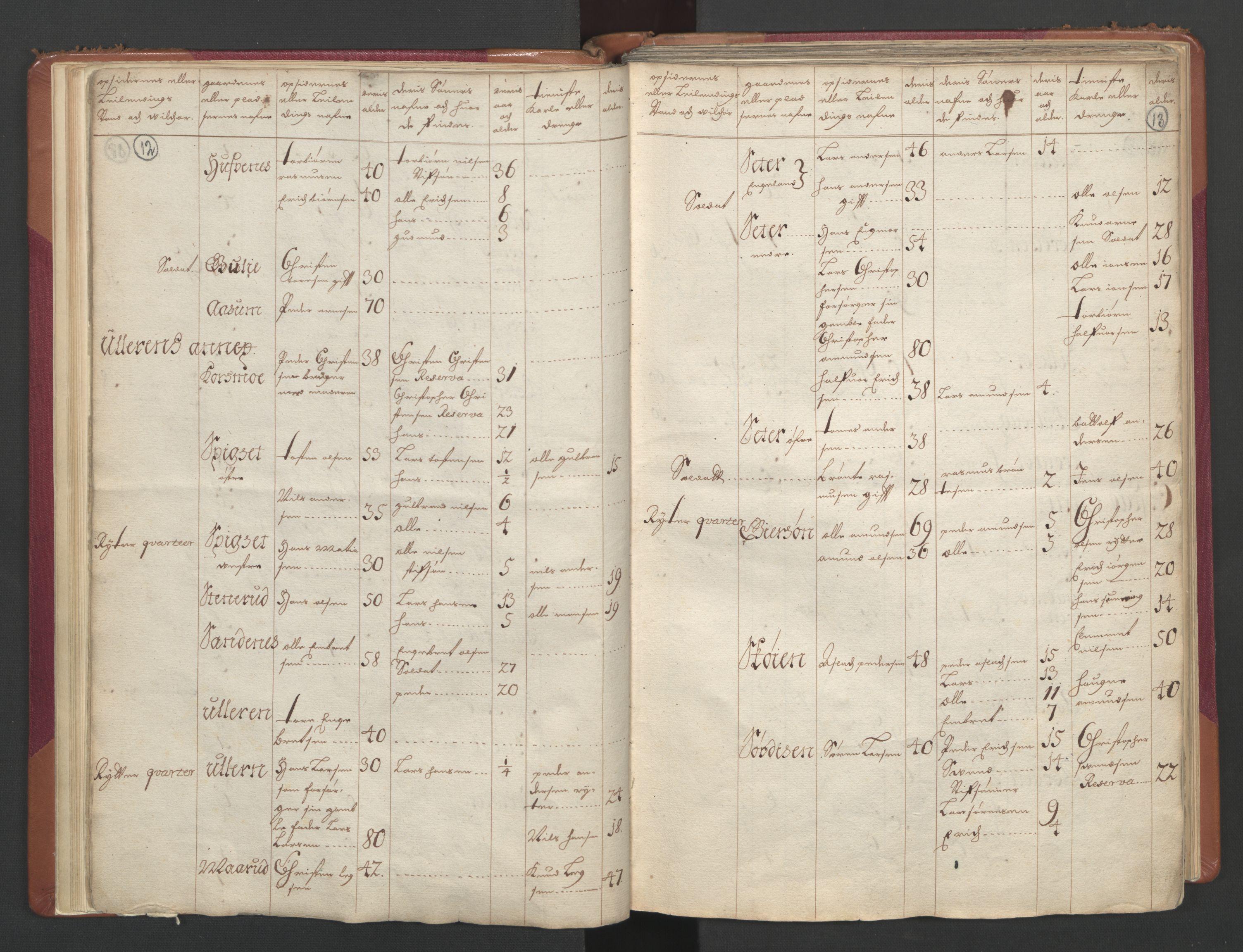 RA, Manntallet 1701, nr. 2: Solør, Odal og Østerdal fogderi og Larvik grevskap, 1701, s. 12-13