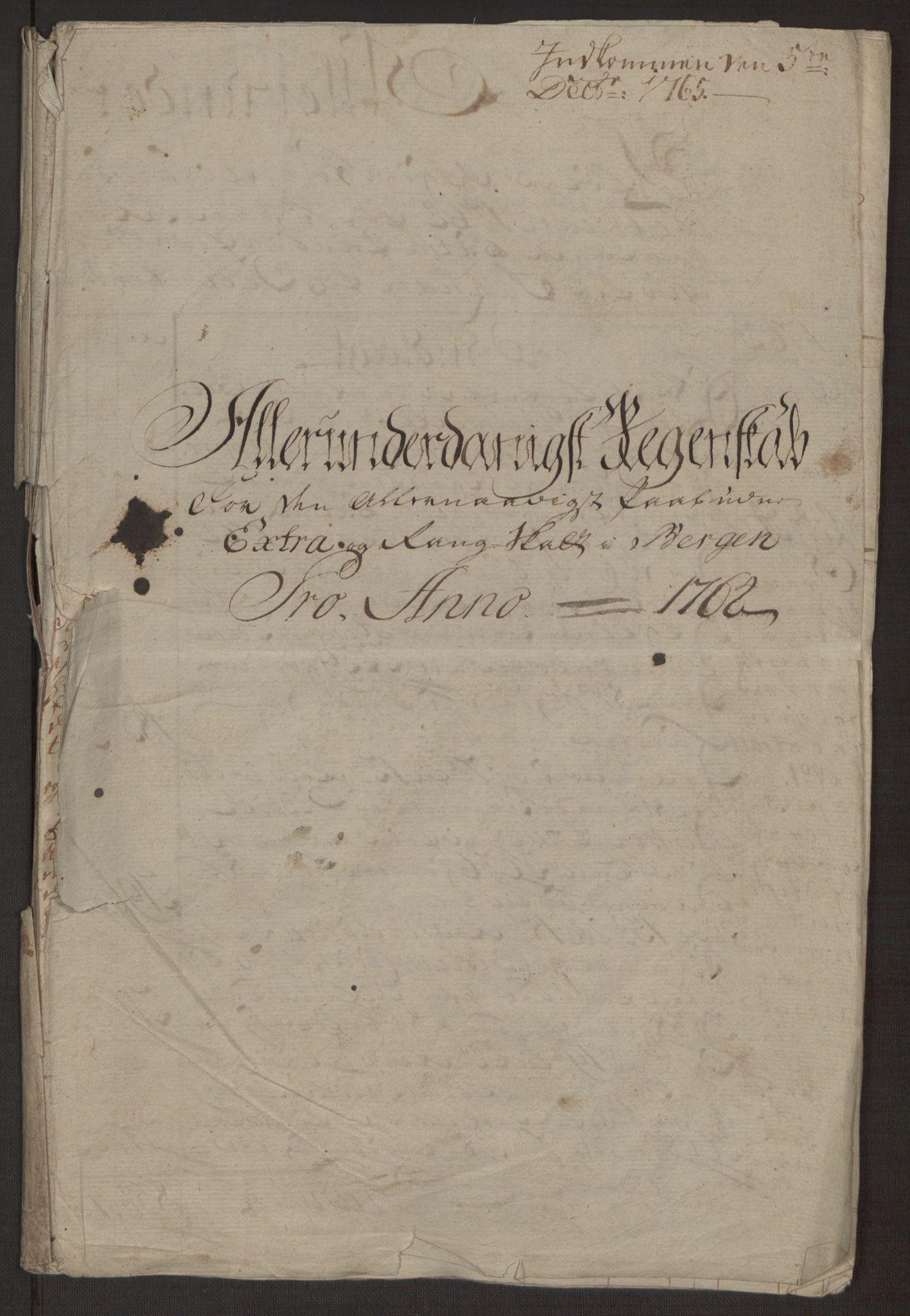 RA, Rentekammeret inntil 1814, Reviderte regnskaper, Byregnskaper, R/Rp/L0367: [P21] Kontribusjonsregnskap, 1764, s. 11