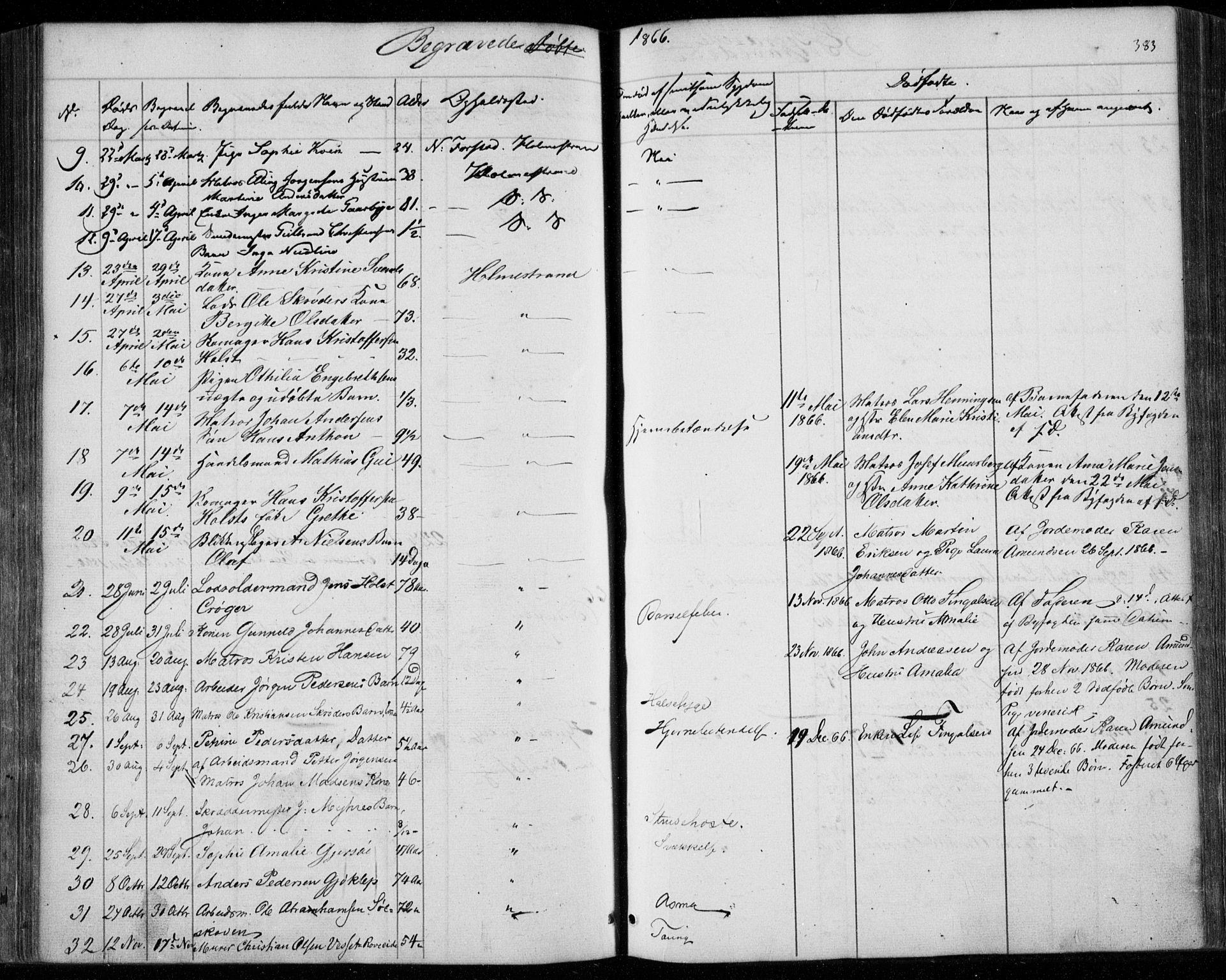 SAKO, Holmestrand kirkebøker, F/Fa/L0002: Ministerialbok nr. 2, 1840-1866, s. 383