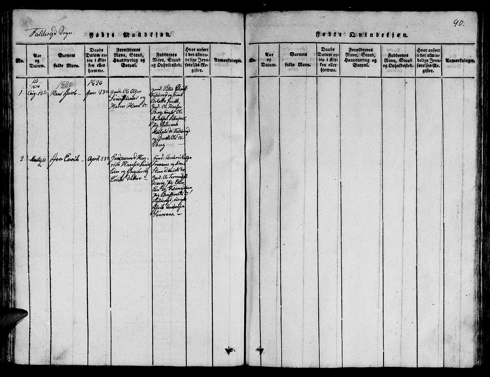 SAT, Ministerialprotokoller, klokkerbøker og fødselsregistre - Nord-Trøndelag, 780/L0648: Klokkerbok nr. 780C01 /3, 1815-1877, s. 90