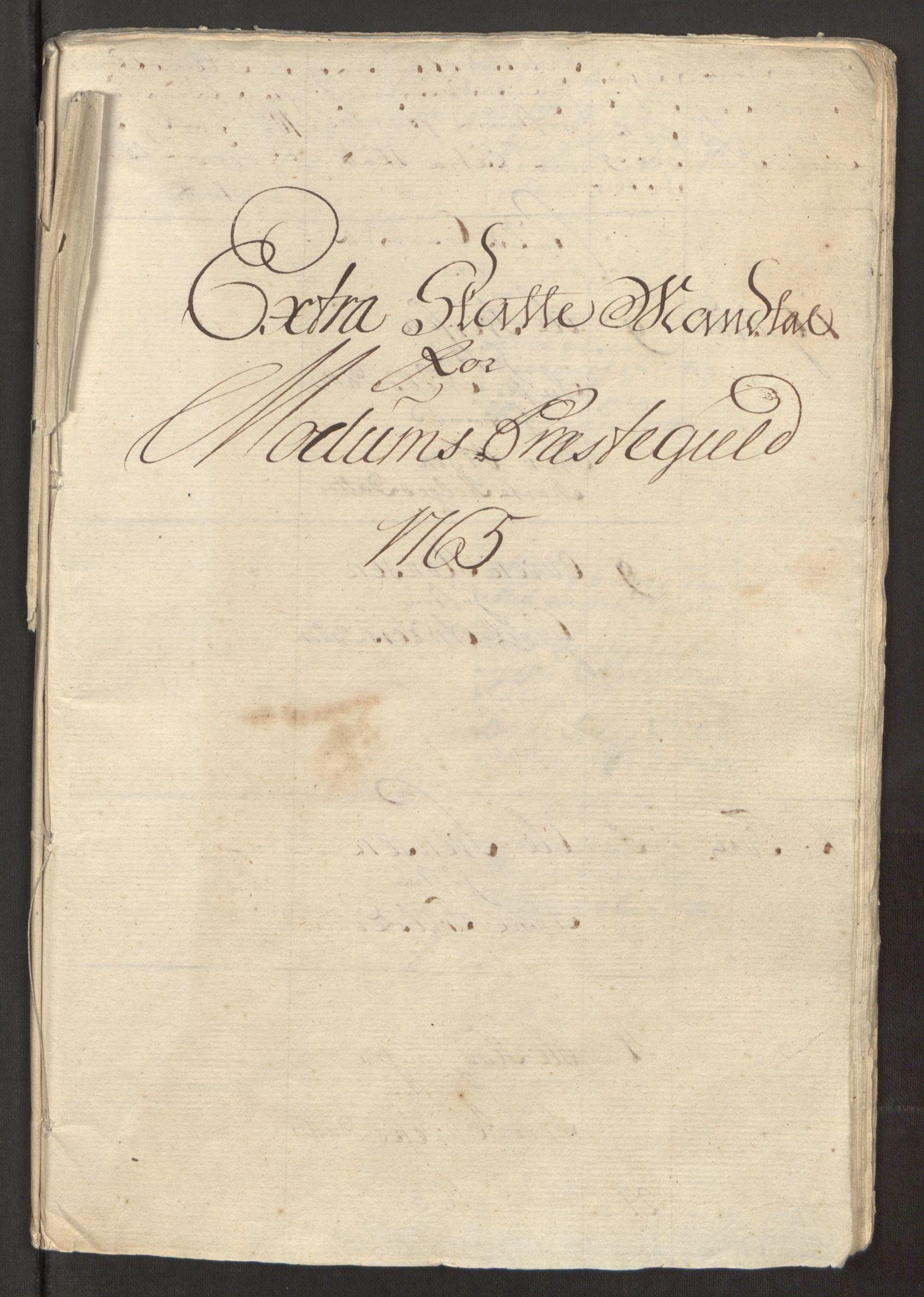 RA, Rentekammeret inntil 1814, Reviderte regnskaper, Fogderegnskap, R31/L1834: Ekstraskatten Hurum, Røyken, Eiker, Lier og Buskerud, 1765, s. 241