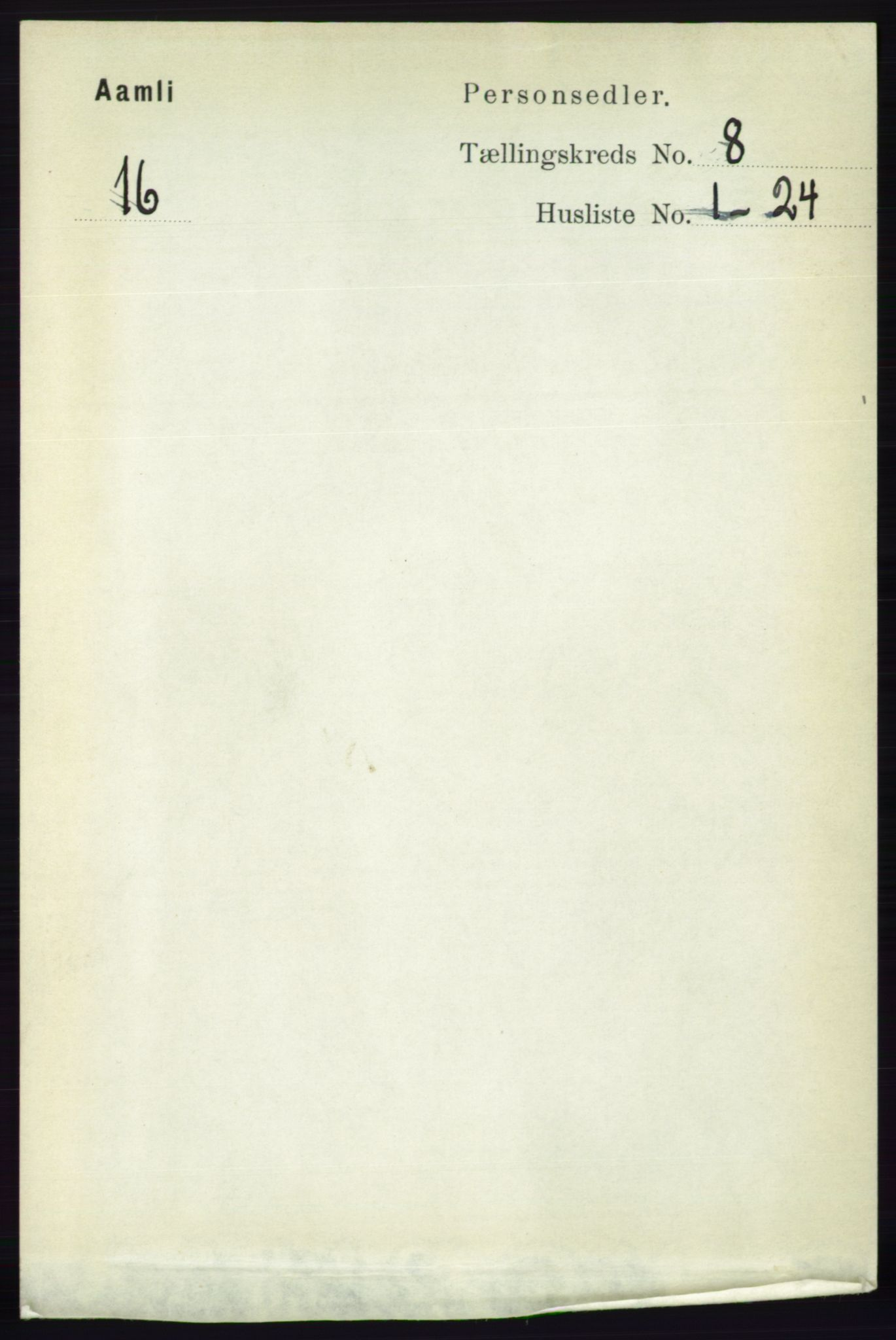 RA, Folketelling 1891 for 0929 Åmli herred, 1891, s. 1107