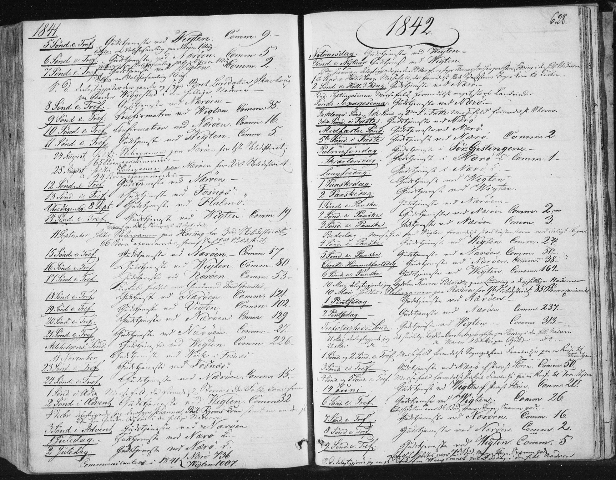 SAT, Ministerialprotokoller, klokkerbøker og fødselsregistre - Nord-Trøndelag, 784/L0669: Ministerialbok nr. 784A04, 1829-1859, s. 628