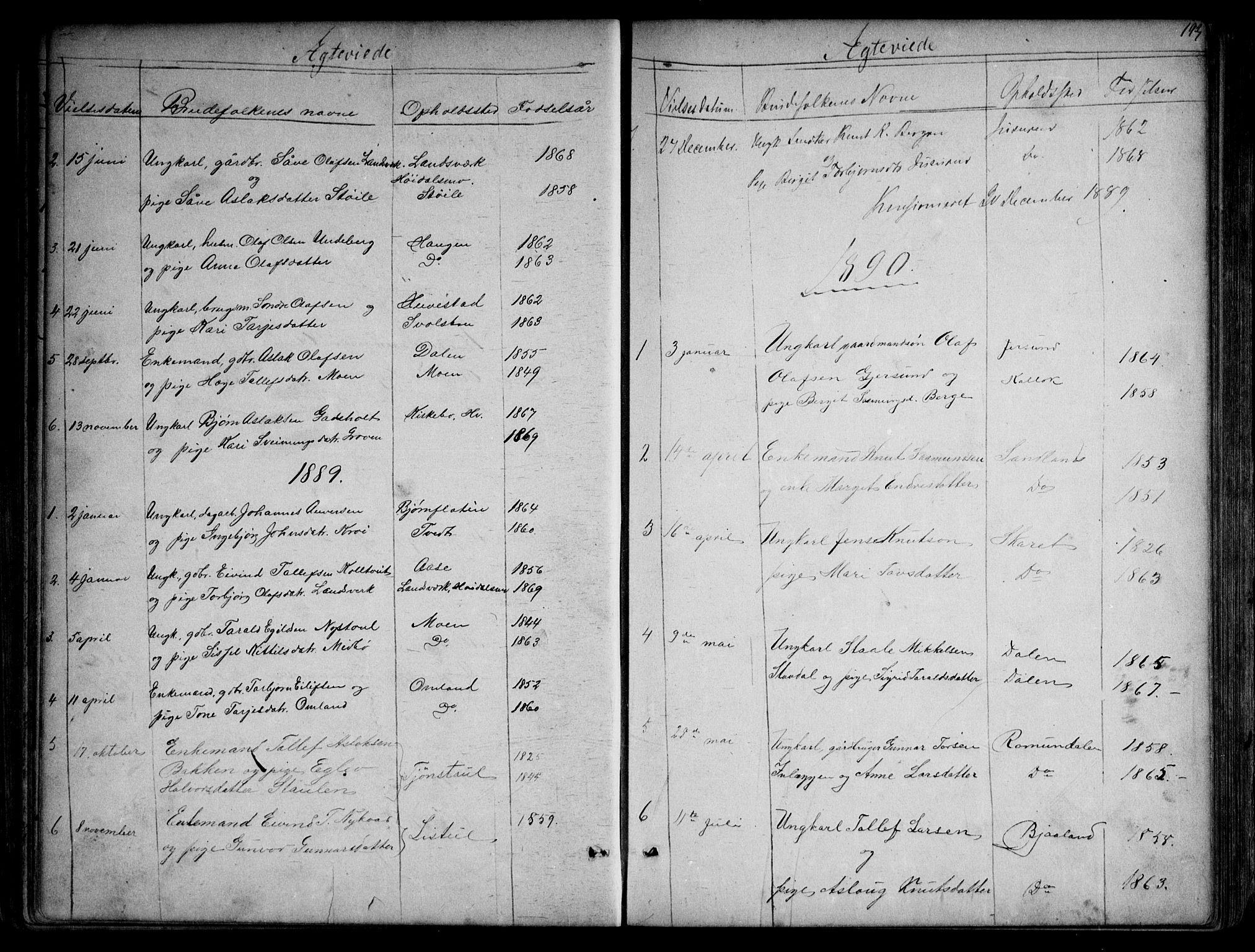 SAKO, Kviteseid kirkebøker, G/Gb/L0002: Klokkerbok nr. II 2, 1850-1892, s. 193