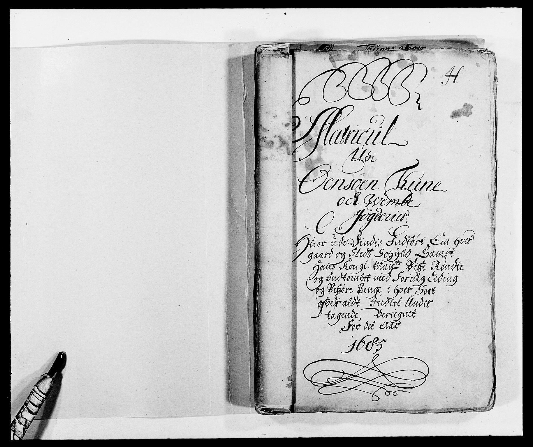 RA, Rentekammeret inntil 1814, Reviderte regnskaper, Fogderegnskap, R03/L0116: Fogderegnskap Onsøy, Tune, Veme og Åbygge fogderi, 1684-1689, s. 14