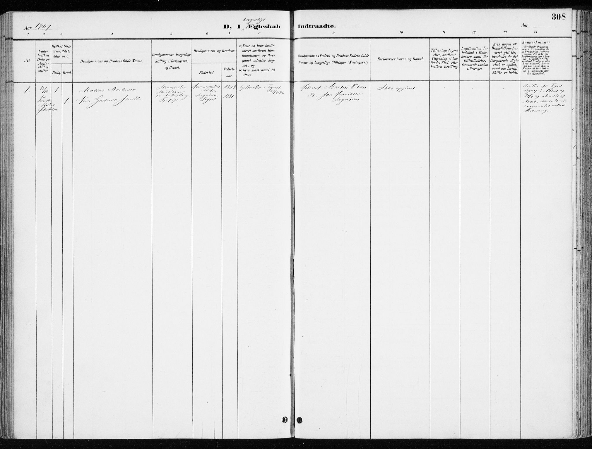 SAH, Løten prestekontor, K/Ka/L0010: Ministerialbok nr. 10, 1892-1907, s. 308