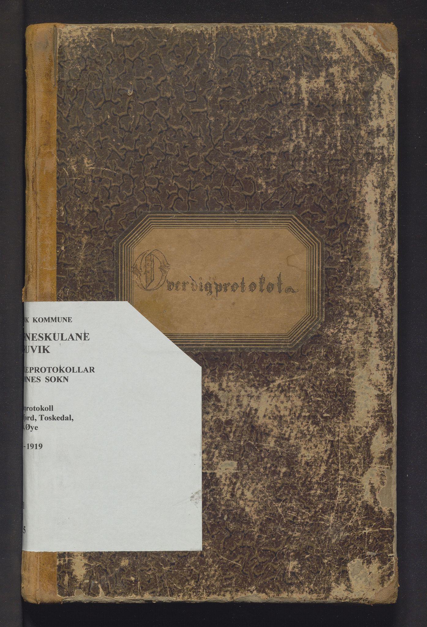 IKAH, Bruvik kommune. Barneskulane, F/Fd/L0005: Skuleprotokoll for Eidsfjord, Toskedal, Elvik og Øye krinsar, 1893-1919