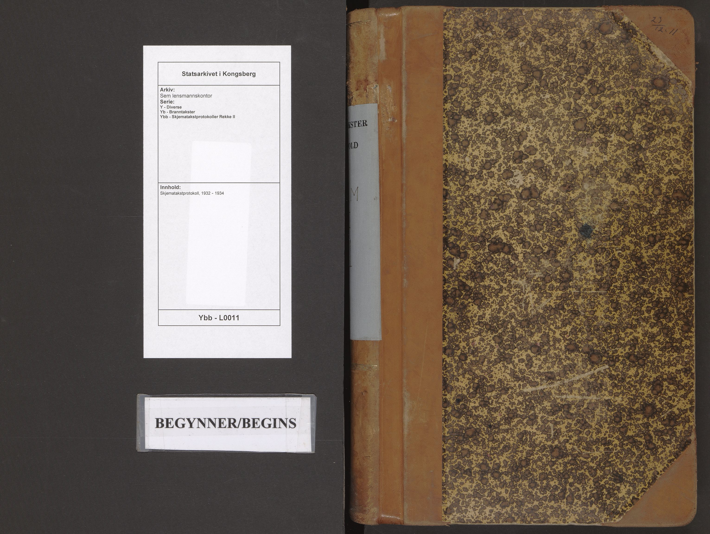 SAKO, Sem lensmannskontor, Y/Yb/Ybb/L0011: Skjematakstprotokoll, 1932-1934