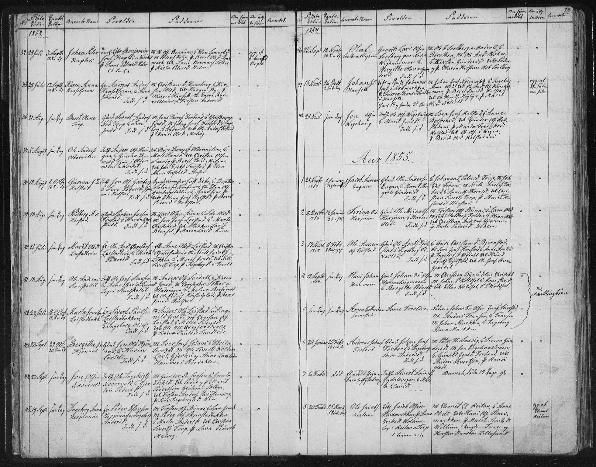 SAT, Ministerialprotokoller, klokkerbøker og fødselsregistre - Sør-Trøndelag, 616/L0406: Ministerialbok nr. 616A03, 1843-1879, s. 29