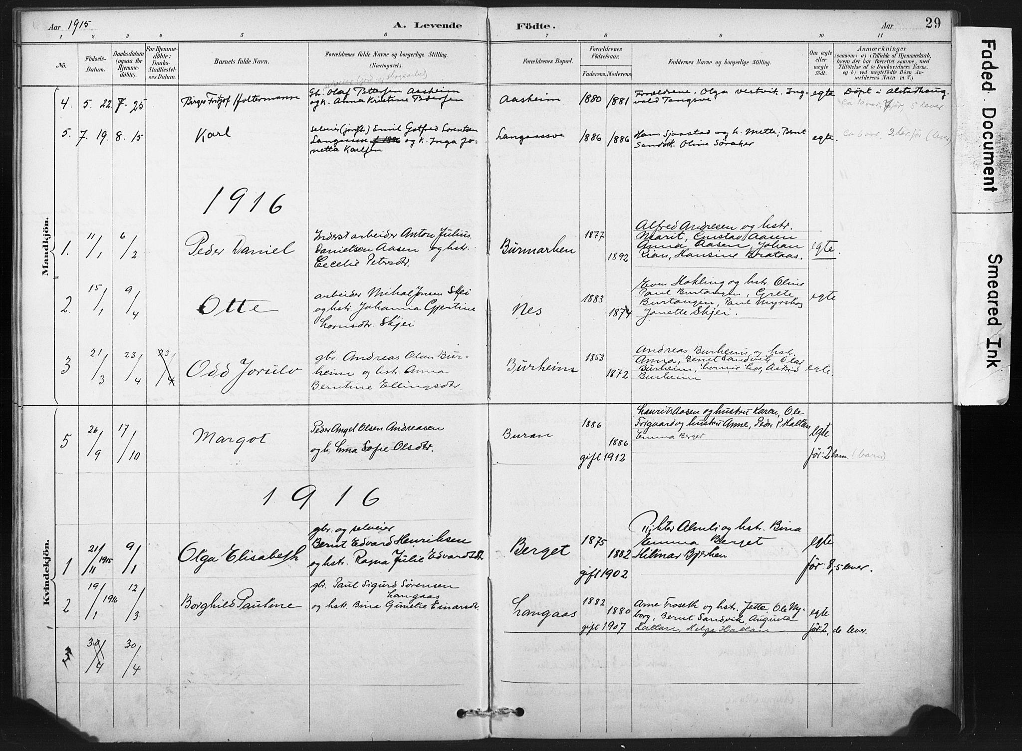 SAT, Ministerialprotokoller, klokkerbøker og fødselsregistre - Nord-Trøndelag, 718/L0175: Ministerialbok nr. 718A01, 1890-1923, s. 29