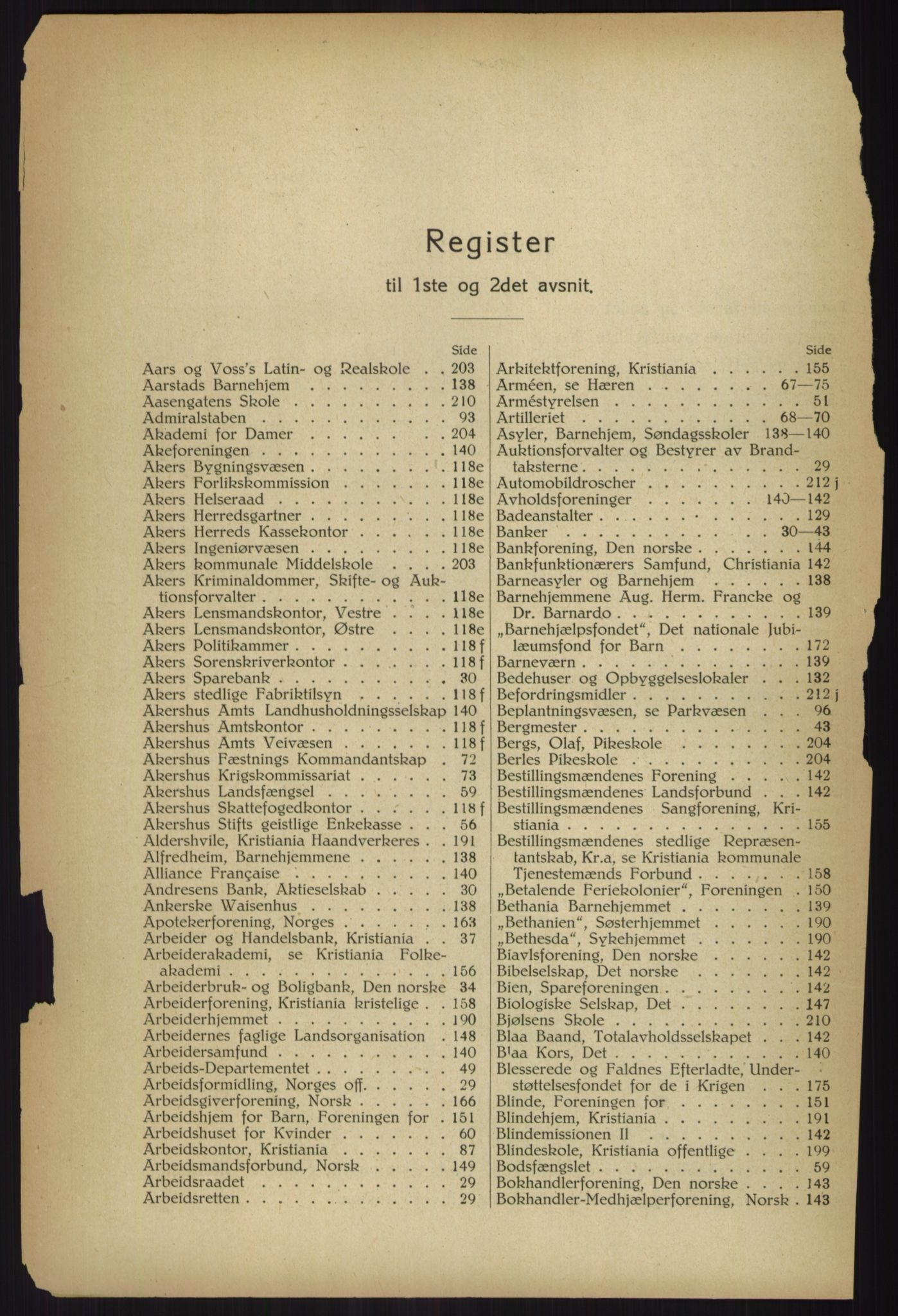RA, Kristiania adressebok (publikasjon)*, 1918, s. 16
