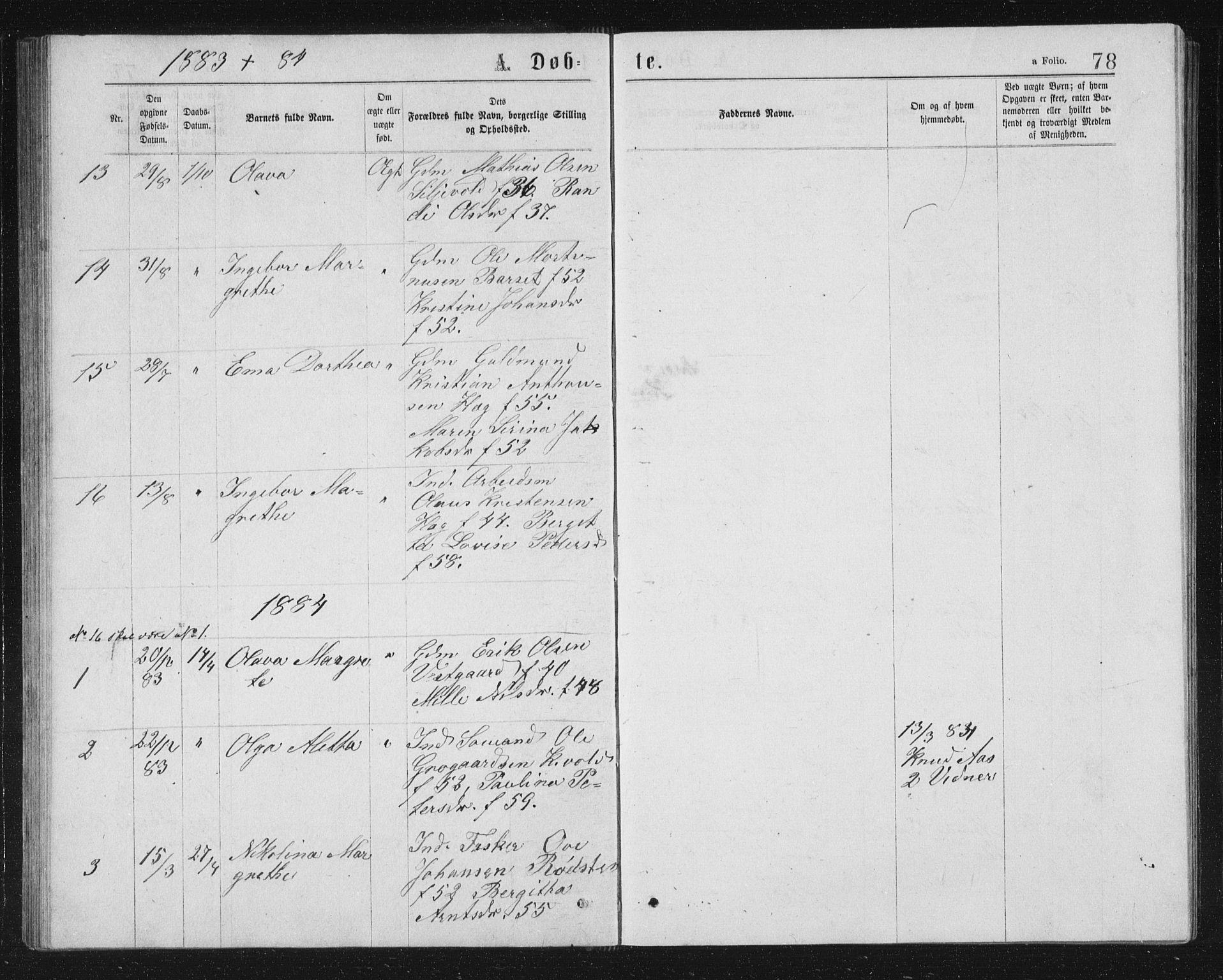 SAT, Ministerialprotokoller, klokkerbøker og fødselsregistre - Sør-Trøndelag, 662/L0756: Klokkerbok nr. 662C01, 1869-1891, s. 78
