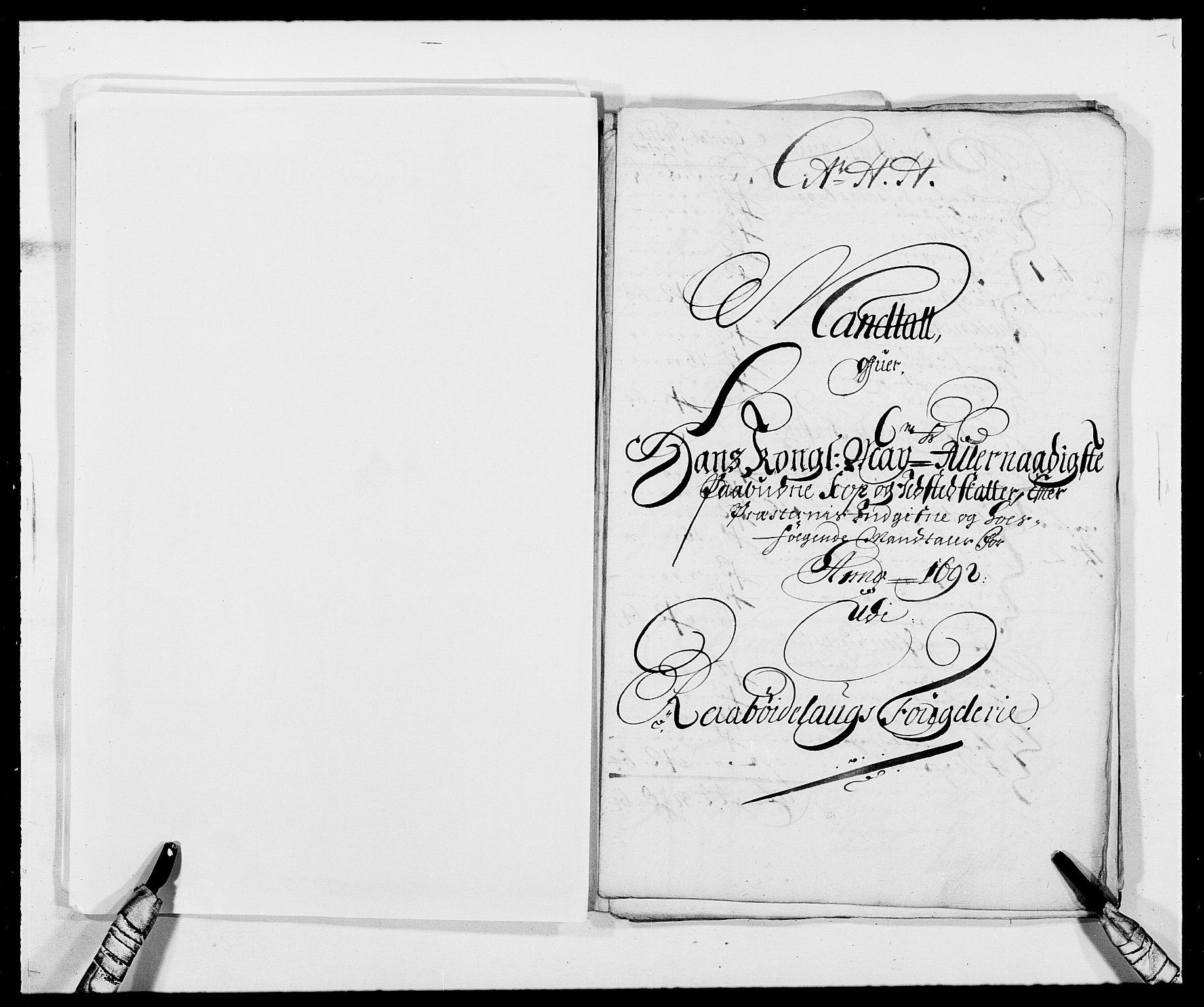 RA, Rentekammeret inntil 1814, Reviderte regnskaper, Fogderegnskap, R40/L2443: Fogderegnskap Råbyggelag, 1691-1692, s. 157