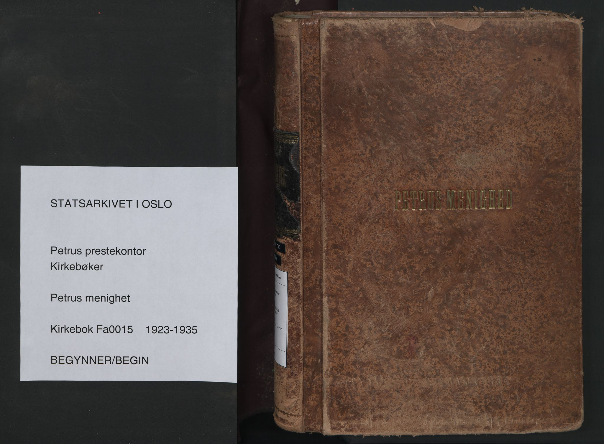 SAO, Petrus prestekontor Kirkebøker, F/Fa/L0015: Ministerialbok nr. 15, 1923-1935