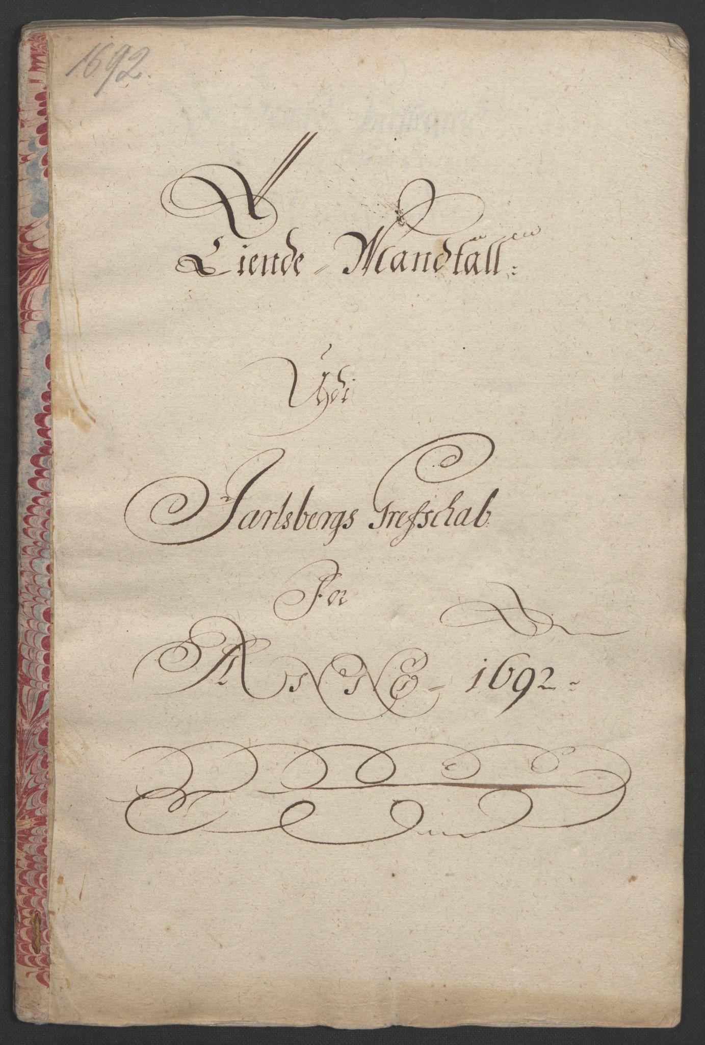 RA, Rentekammeret inntil 1814, Reviderte regnskaper, Fogderegnskap, R32/L1865: Fogderegnskap Jarlsberg grevskap, 1692, s. 365