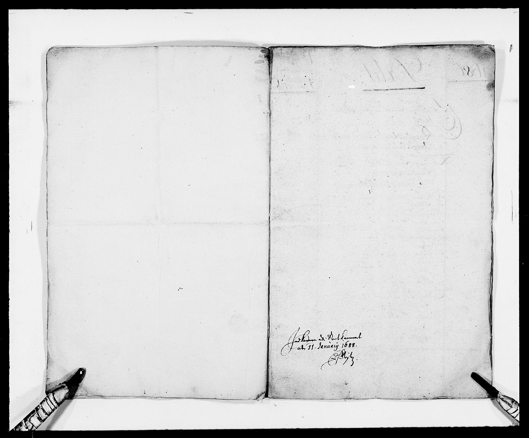 RA, Rentekammeret inntil 1814, Reviderte regnskaper, Fogderegnskap, R34/L2048: Fogderegnskap Bamble, 1685-1687, s. 6