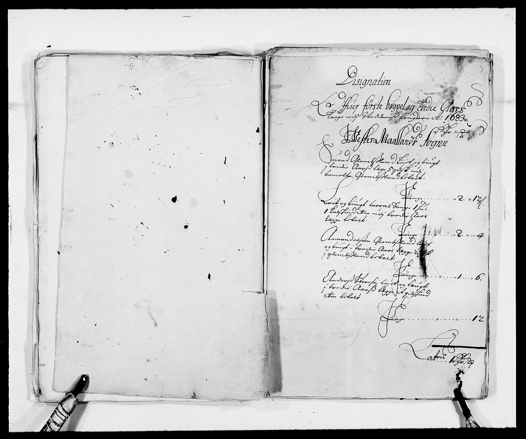 RA, Rentekammeret inntil 1814, Reviderte regnskaper, Fogderegnskap, R39/L2305: Fogderegnskap Nedenes, 1683, s. 57