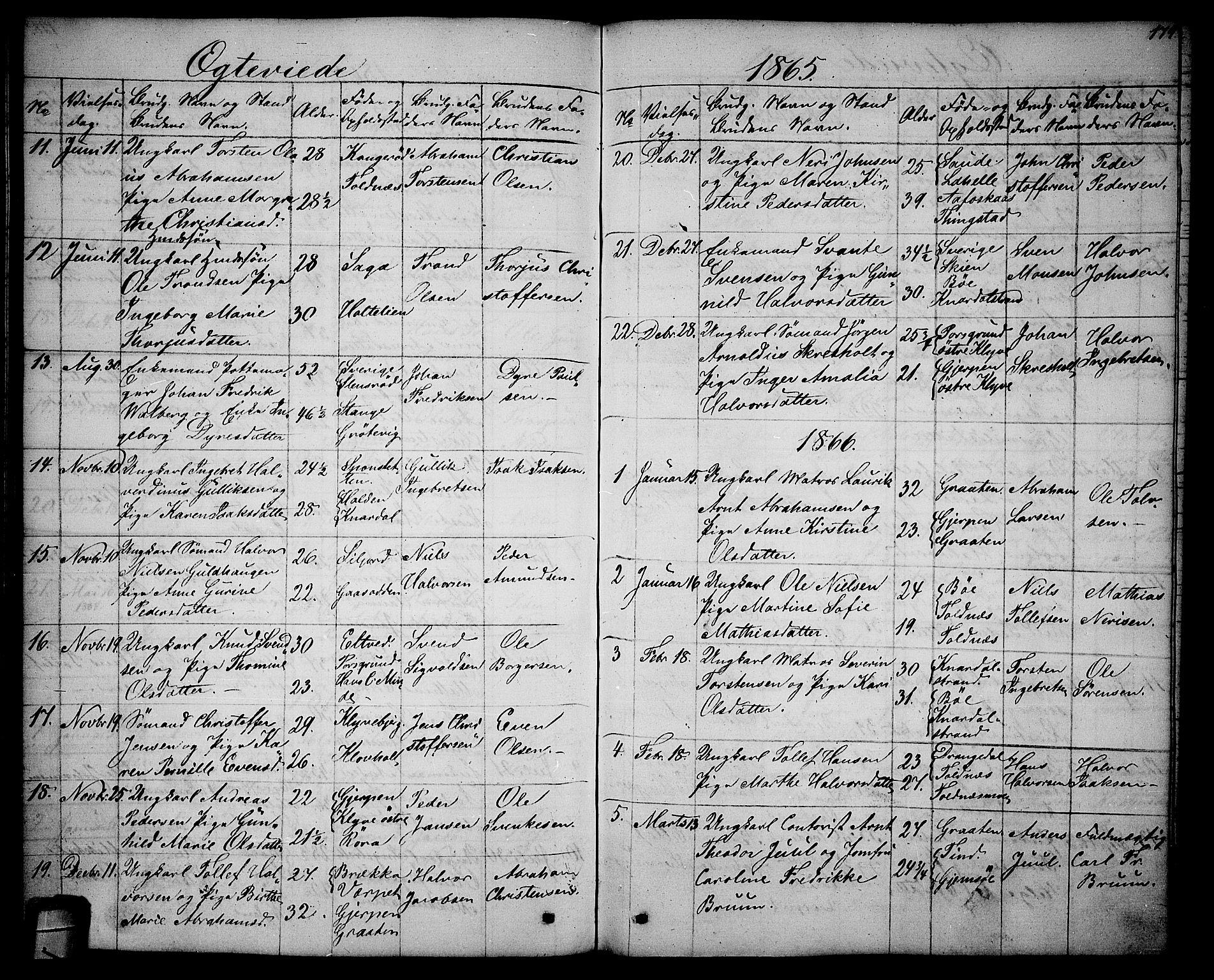 SAKO, Solum kirkebøker, G/Ga/L0004: Klokkerbok nr. I 4, 1859-1876, s. 179