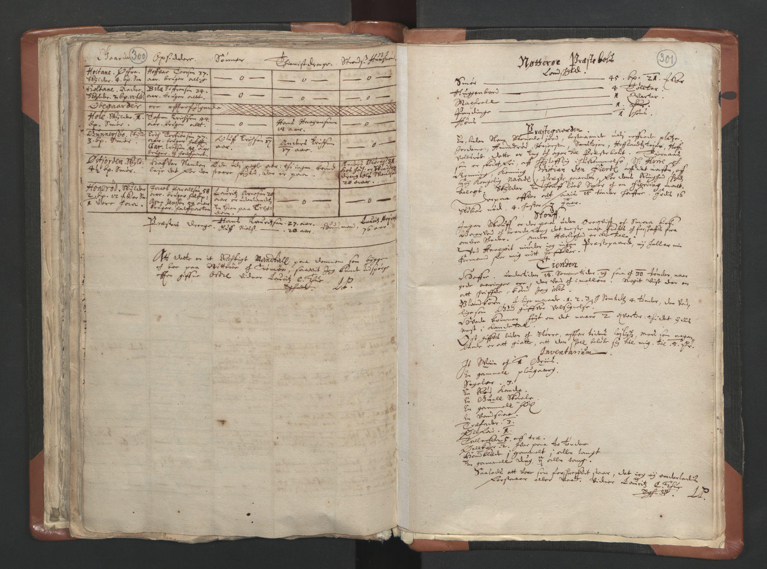 RA, Sogneprestenes manntall 1664-1666, nr. 10: Tønsberg prosti, 1664-1666, s. 300-301