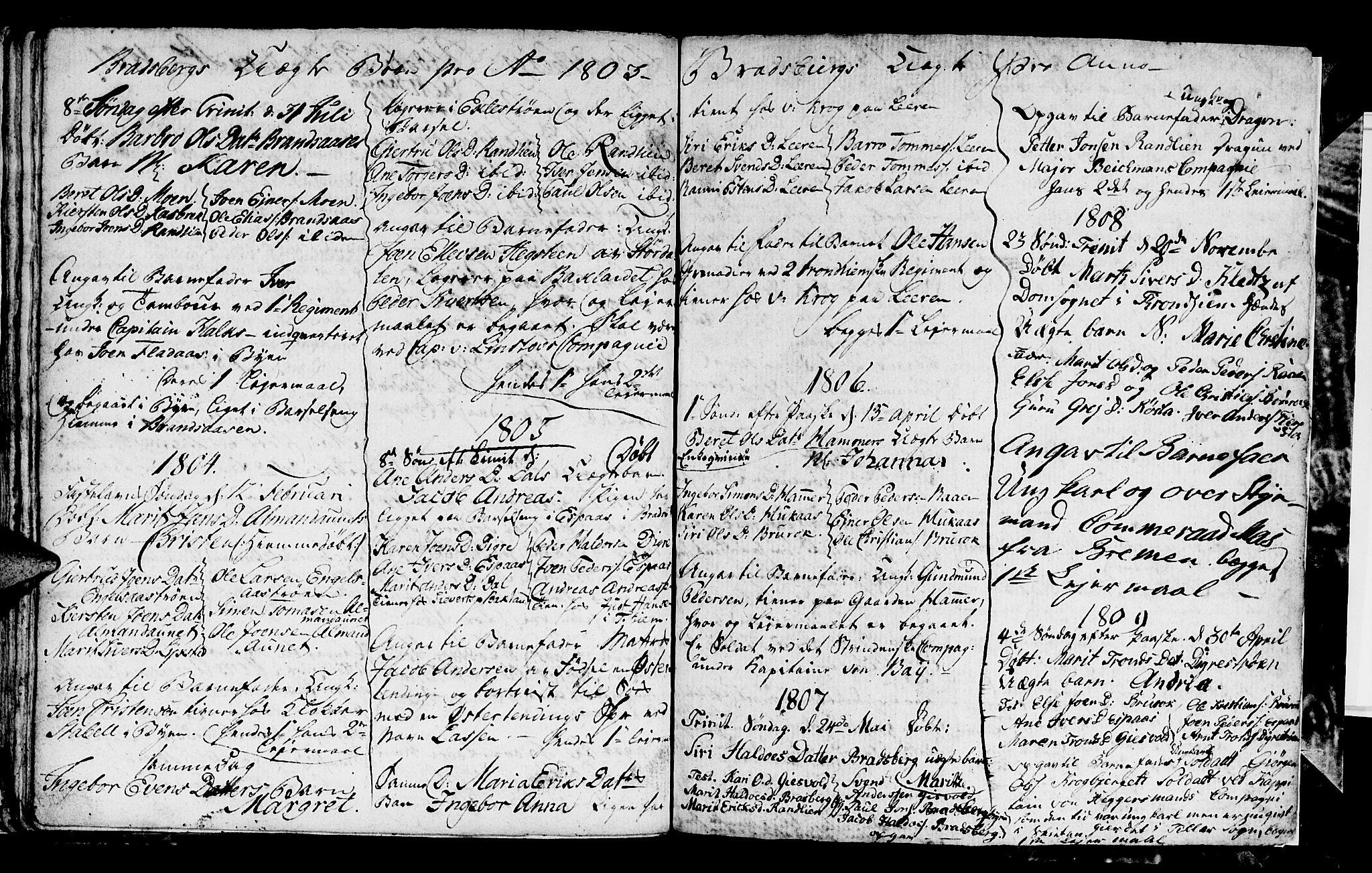 SAT, Ministerialprotokoller, klokkerbøker og fødselsregistre - Sør-Trøndelag, 608/L0335: Klokkerbok nr. 608C01, 1797-1820