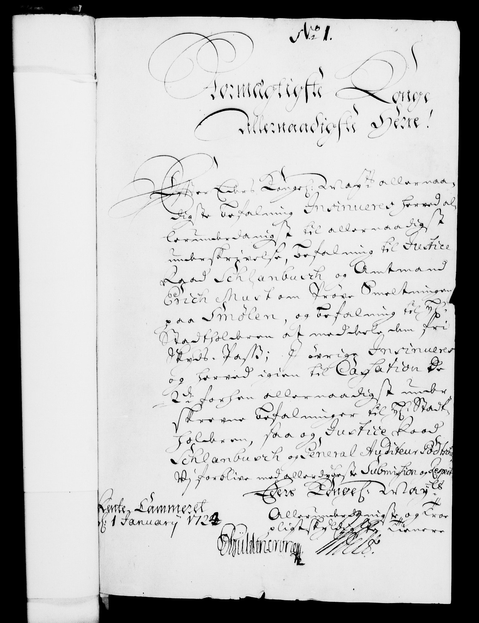 RA, Rentekammeret, Kammerkanselliet, G/Gf/Gfa/L0007: Norsk relasjons- og resolusjonsprotokoll (merket RK 52.7), 1724, s. 98