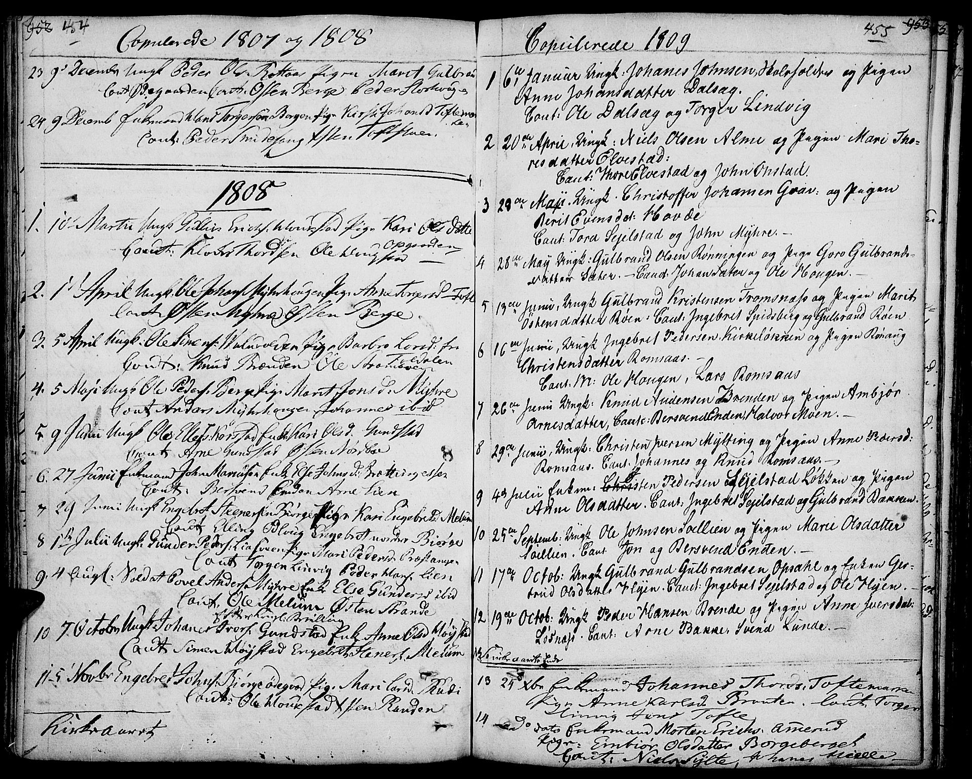 SAH, Ringebu prestekontor, Ministerialbok nr. 3, 1781-1820, s. 454-455