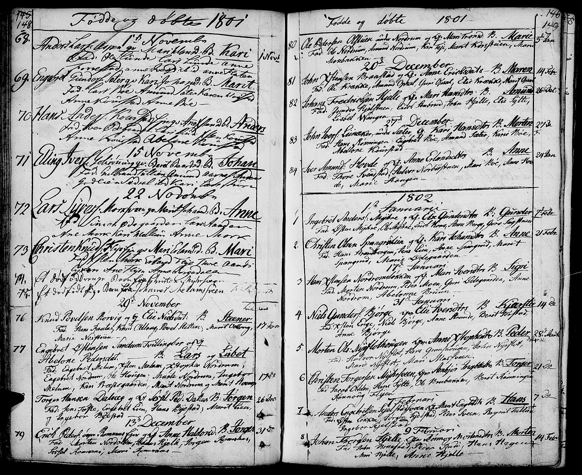 SAH, Ringebu prestekontor, Ministerialbok nr. 3, 1781-1820, s. 148-149