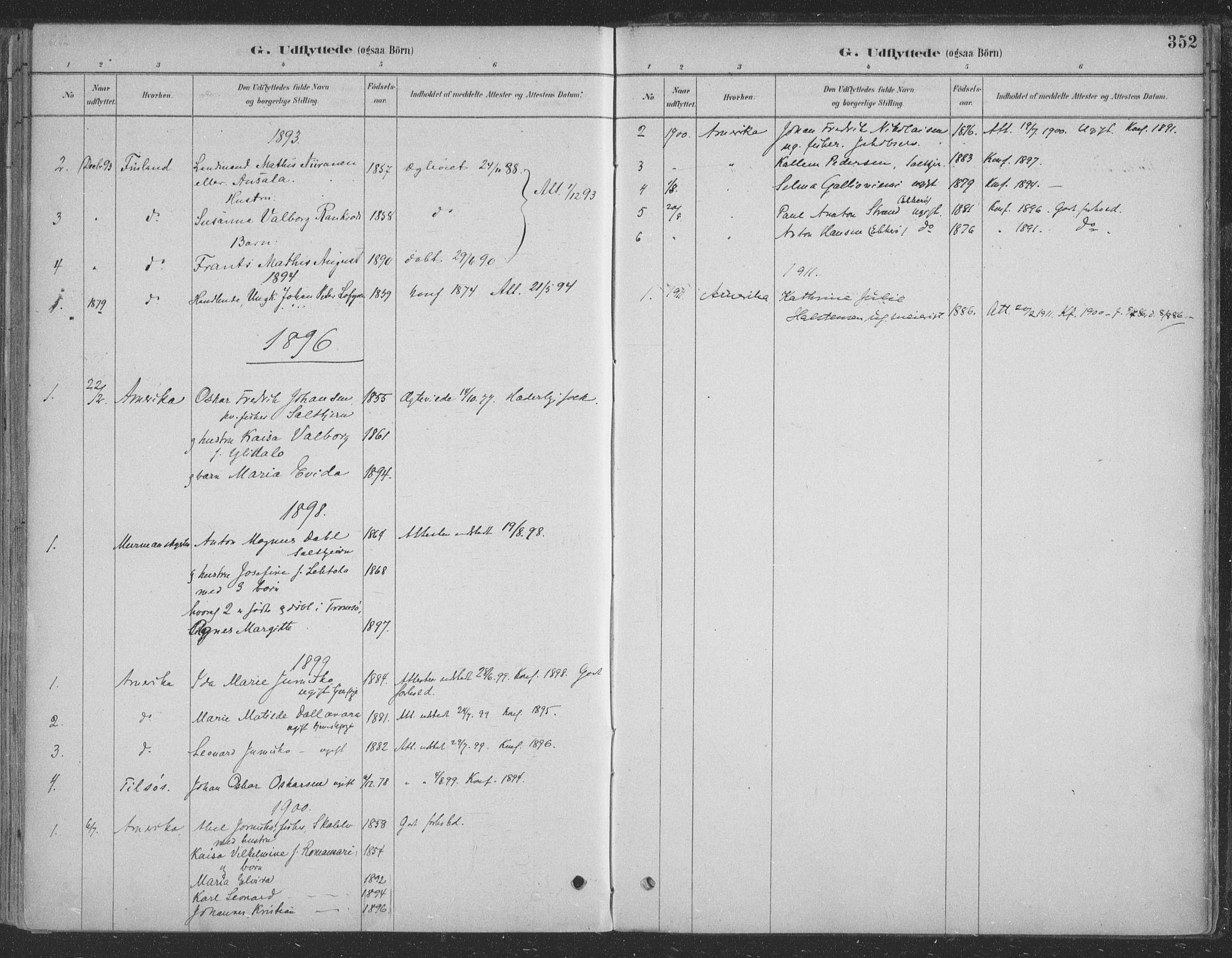 SATØ, Vadsø sokneprestkontor, H/Ha/L0009kirke: Ministerialbok nr. 9, 1881-1917, s. 352