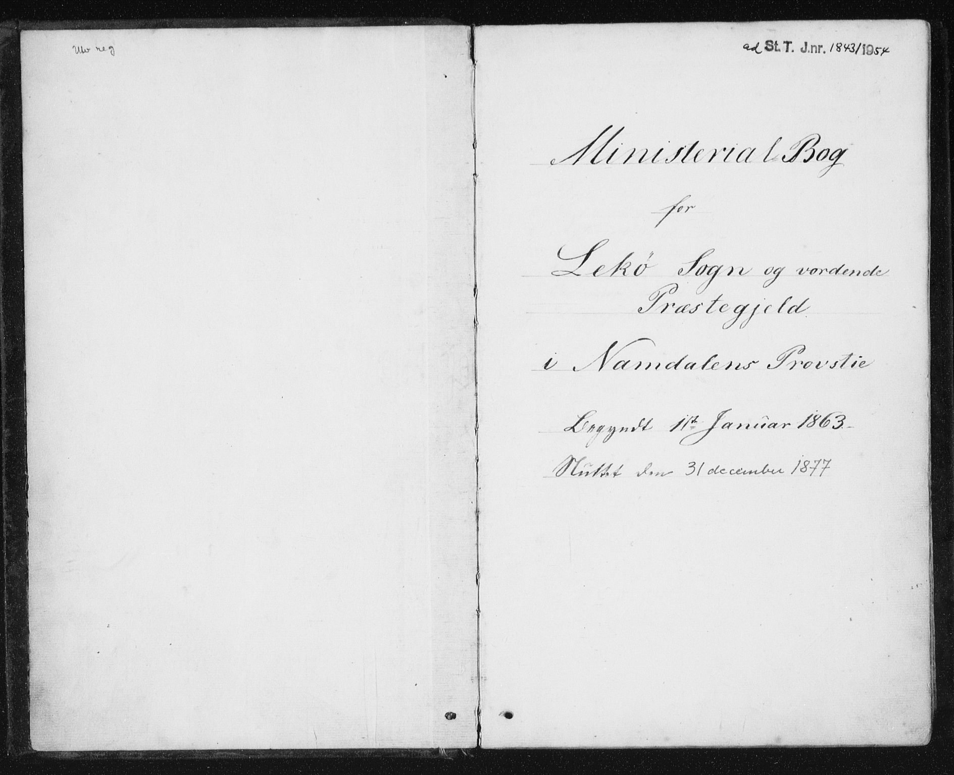 SAT, Ministerialprotokoller, klokkerbøker og fødselsregistre - Nord-Trøndelag, 788/L0696: Ministerialbok nr. 788A03, 1863-1877