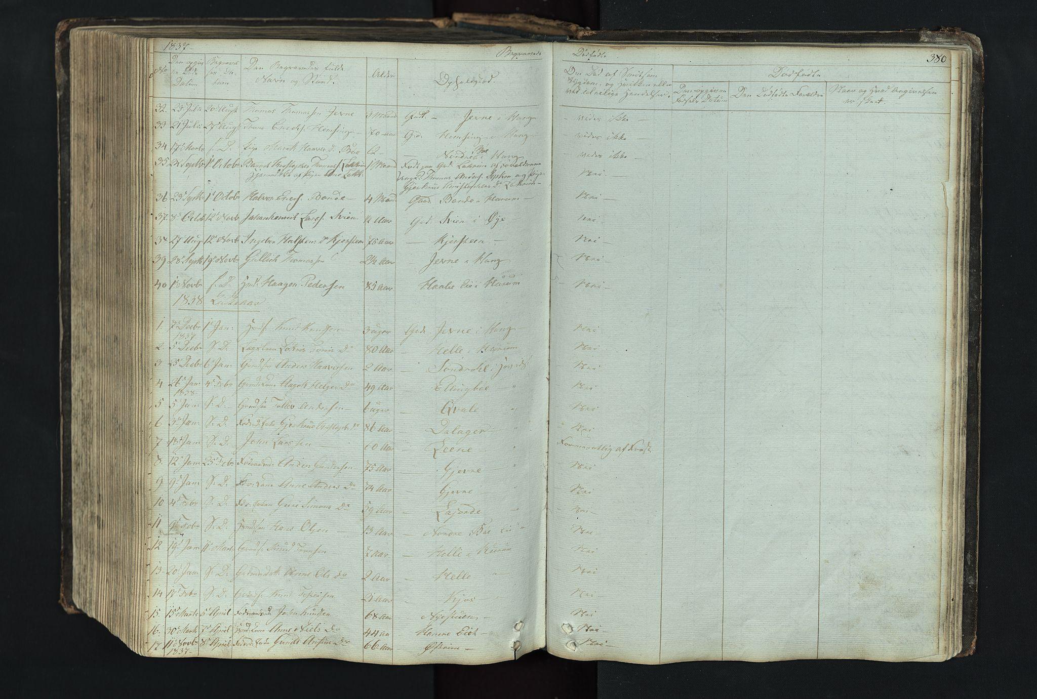 SAH, Vang prestekontor, Valdres, Klokkerbok nr. 4, 1835-1892, s. 380