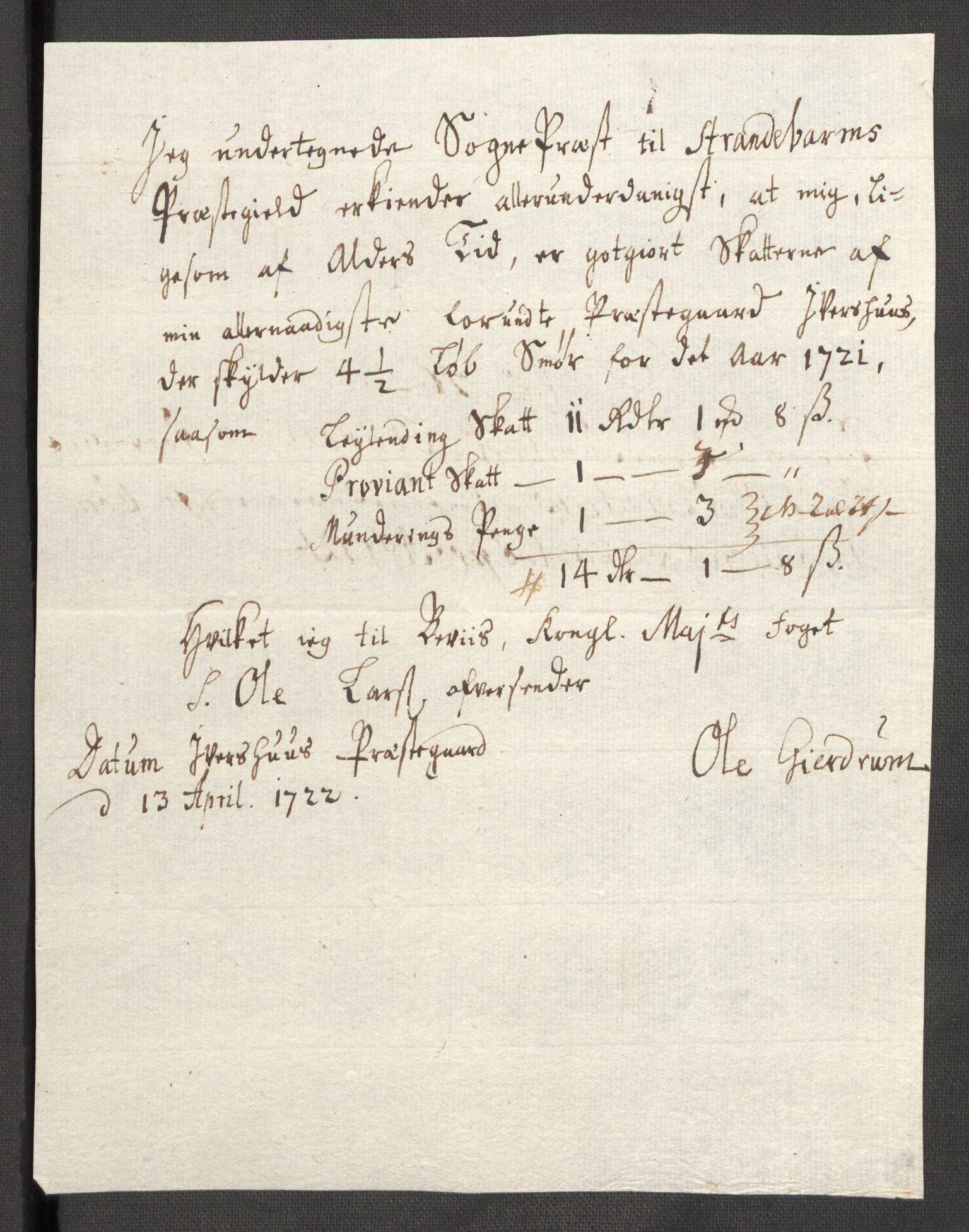 RA, Rentekammeret inntil 1814, Reviderte regnskaper, Fogderegnskap, R48/L3000: Fogderegnskap Sunnhordland og Hardanger, 1721, s. 307