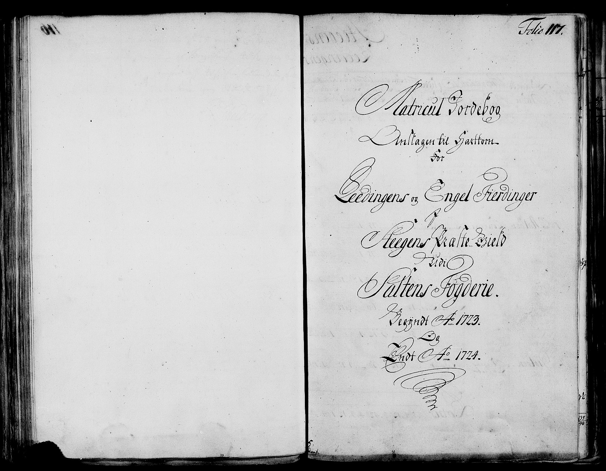 RA, Rentekammeret inntil 1814, Realistisk ordnet avdeling, N/Nb/Nbf/L0173: Salten matrikkelprotokoll, 1723, s. 116b-117a